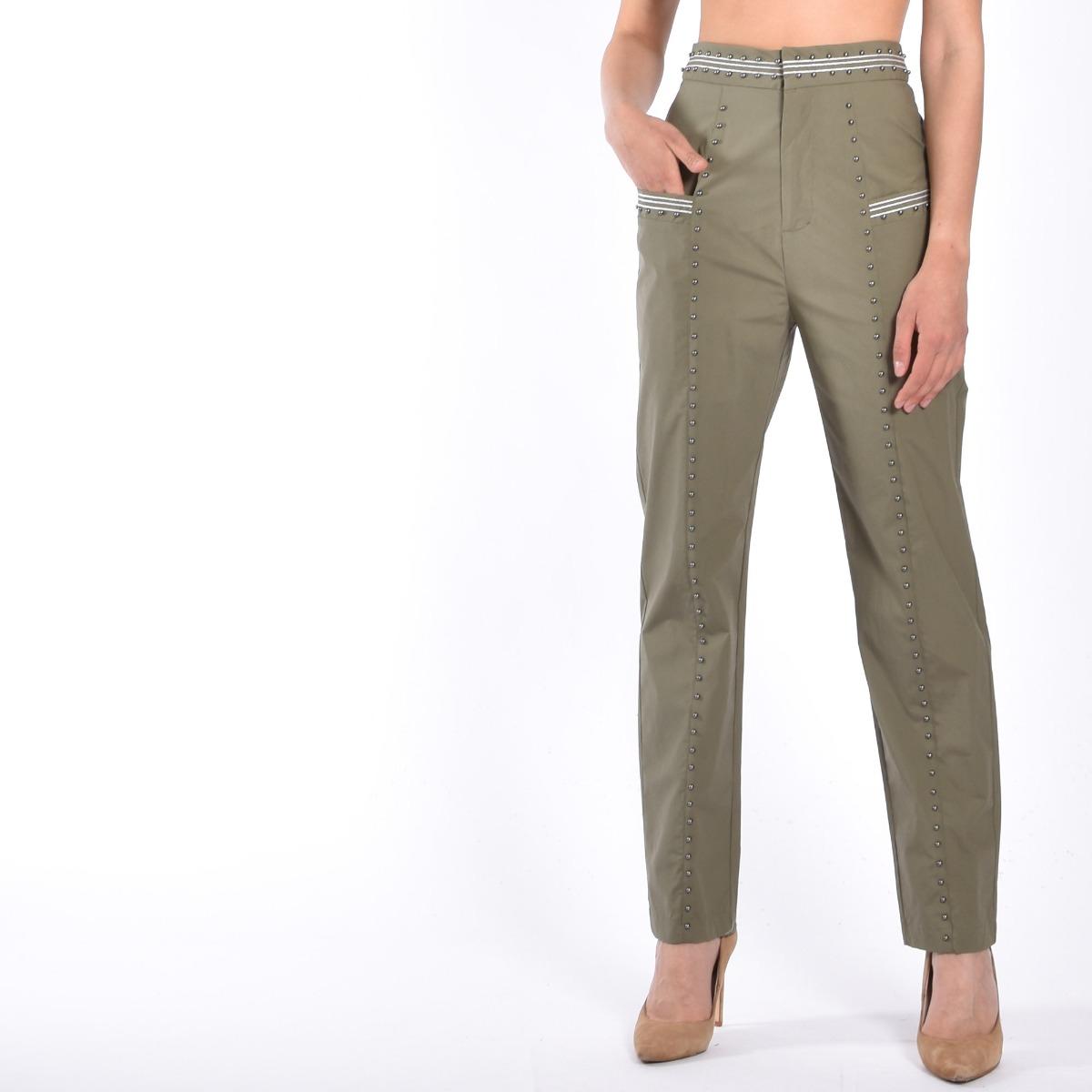 Pantalone borchie- Verde alpino