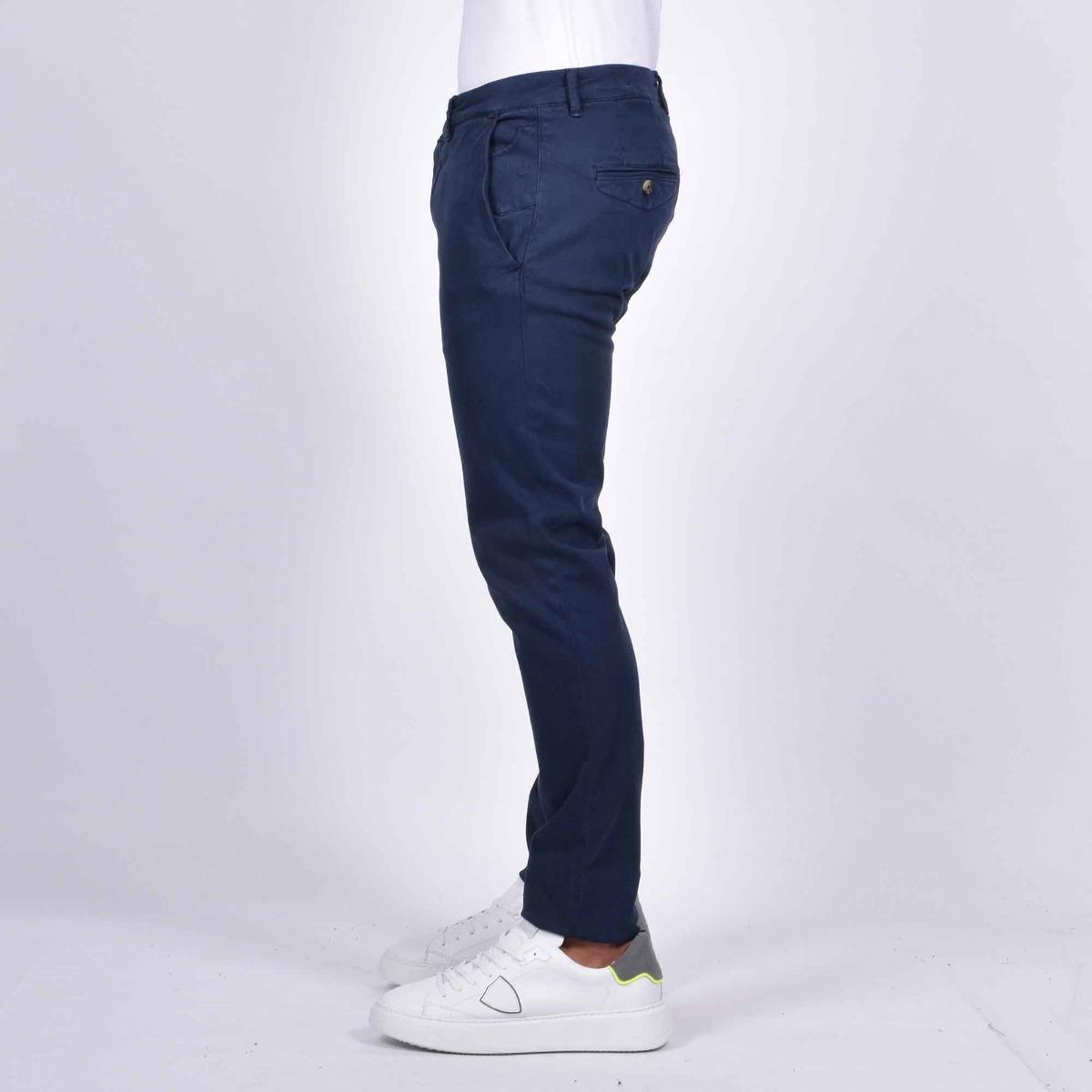 Pantalone chino slim - Blu scuro