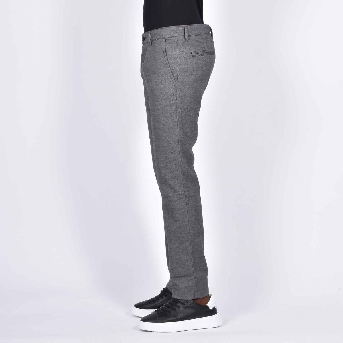 Pantalone chino slim - Grigio