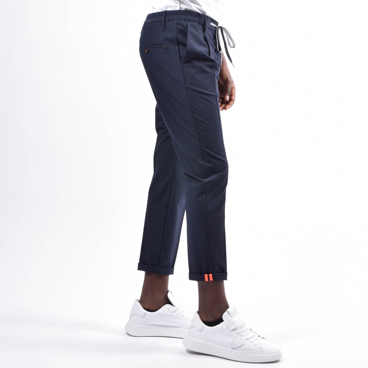 Pantalone con coulisse - Blu