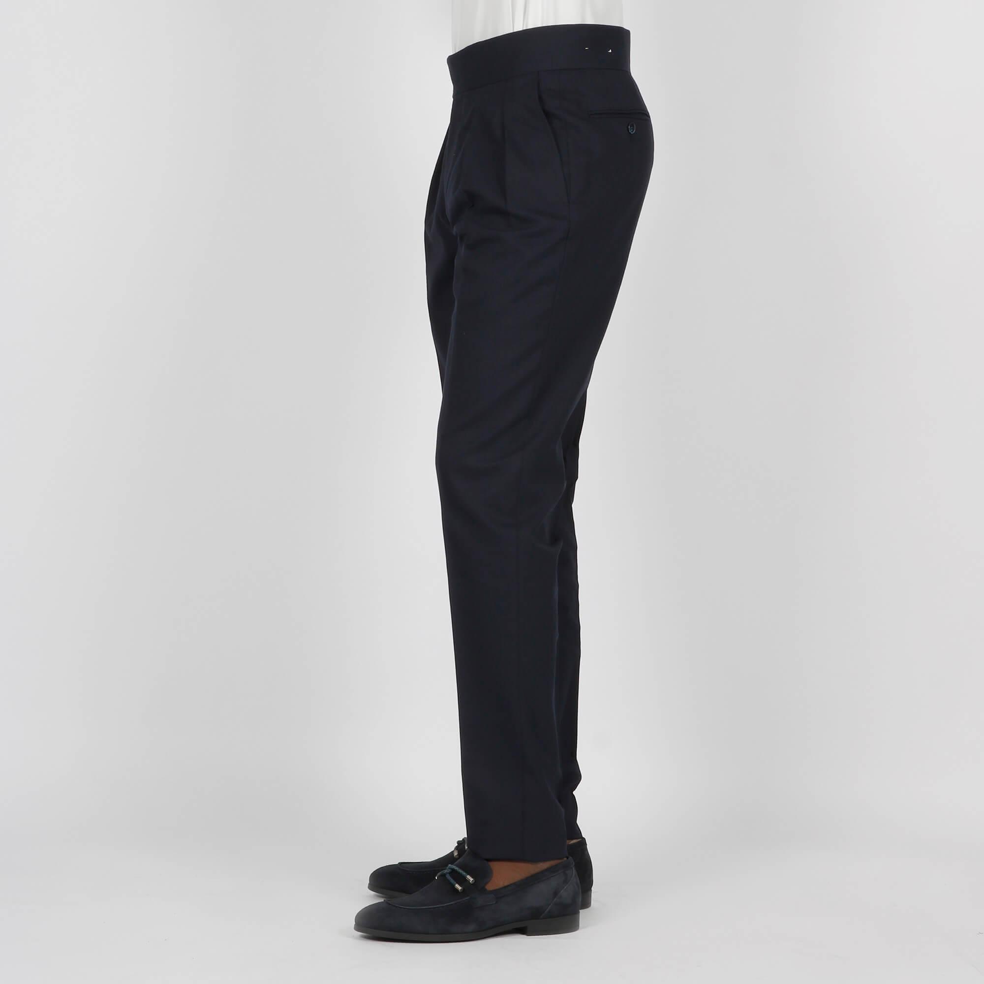 Pantaloni doppia pences- Blu