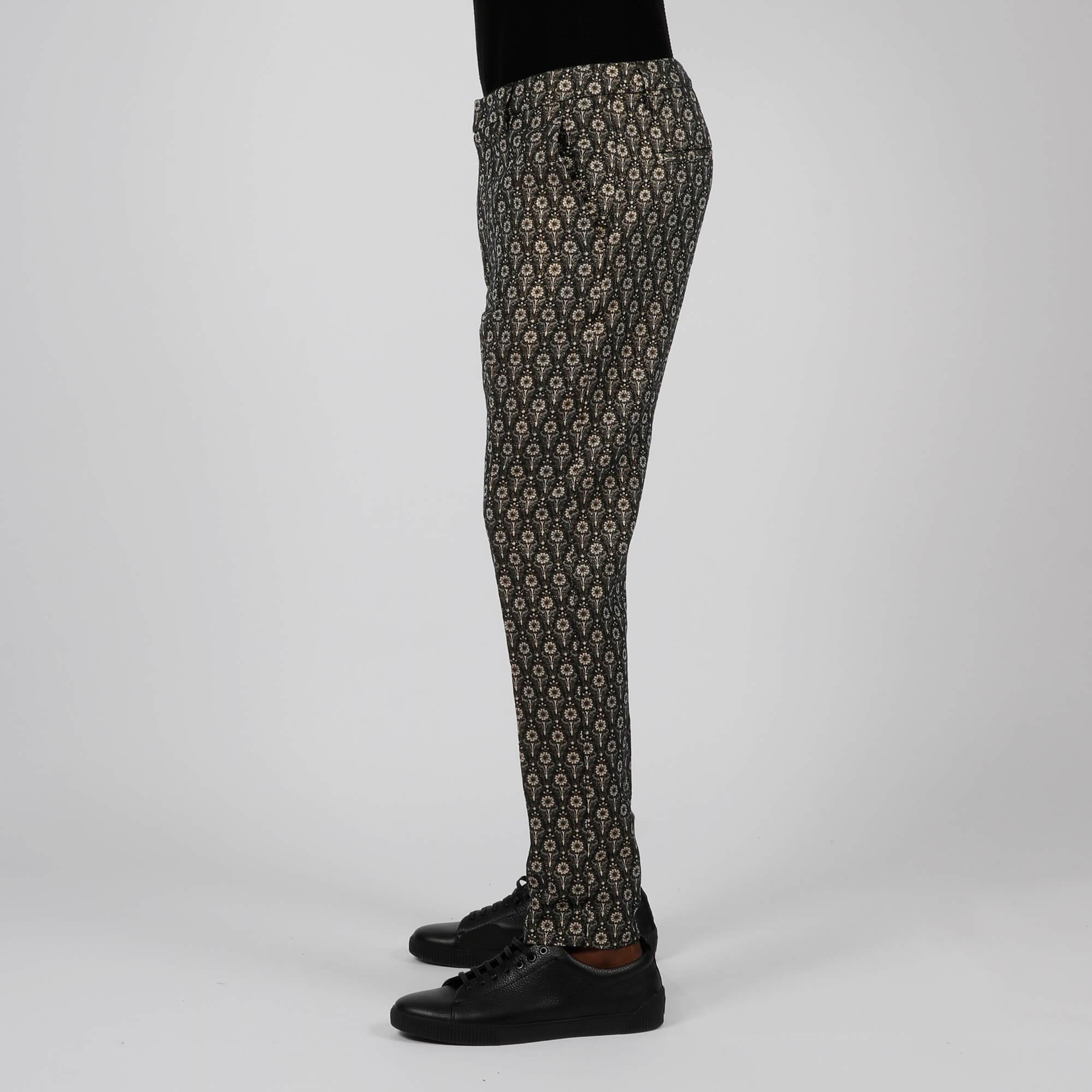 Pantalone ivor damascato - Nero