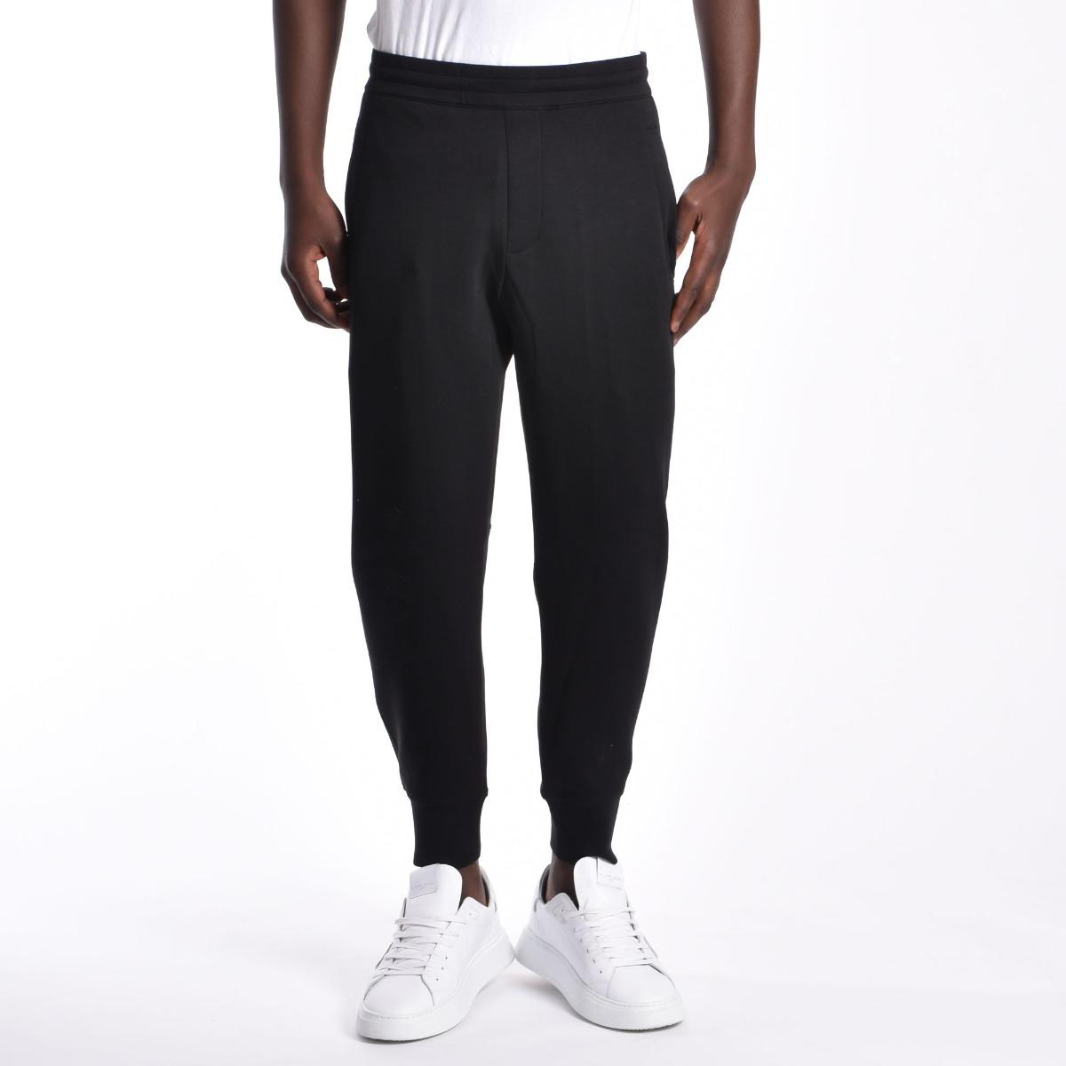 Pantalone tuta logo laterale - Nero