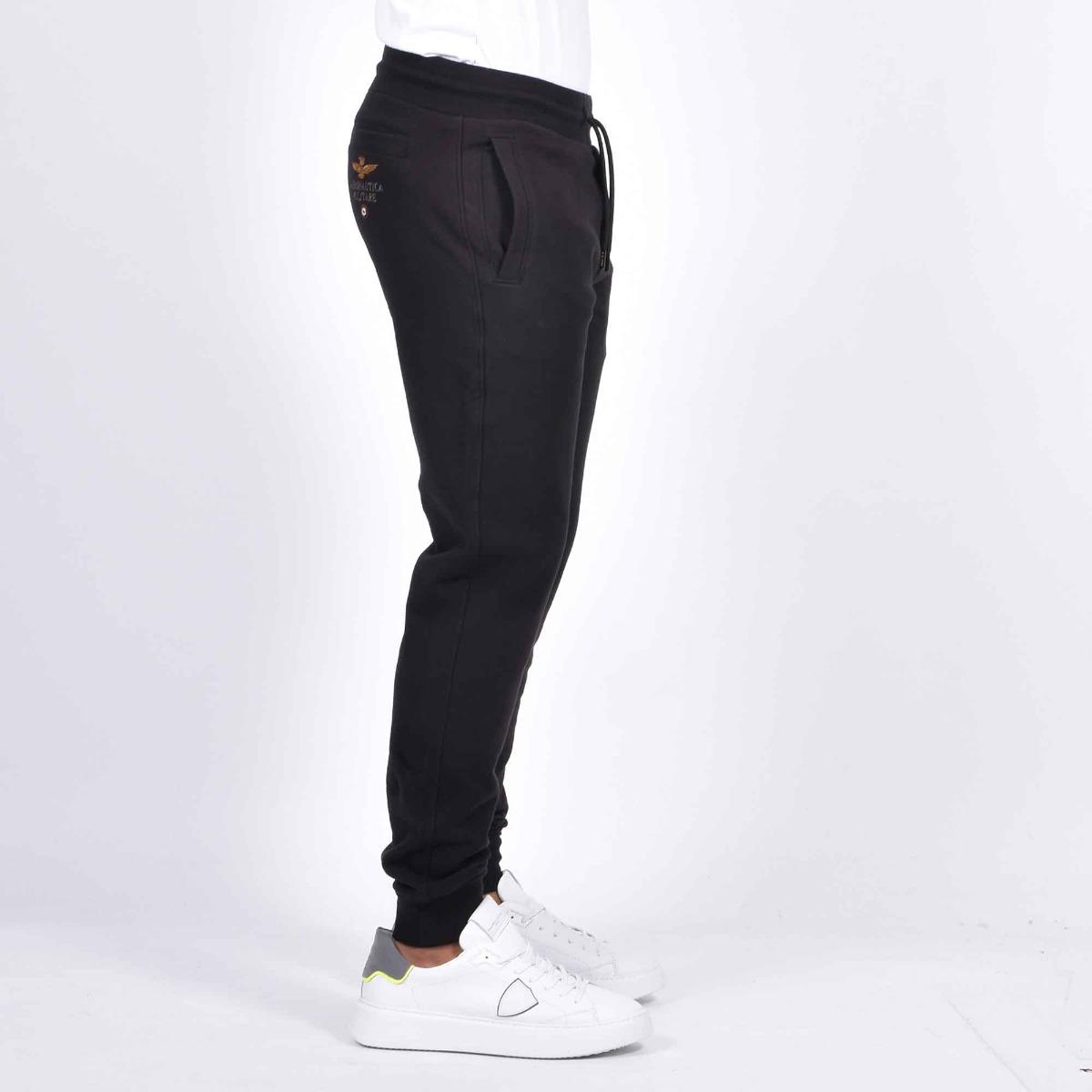 Pantalone felpa aquila - Nero