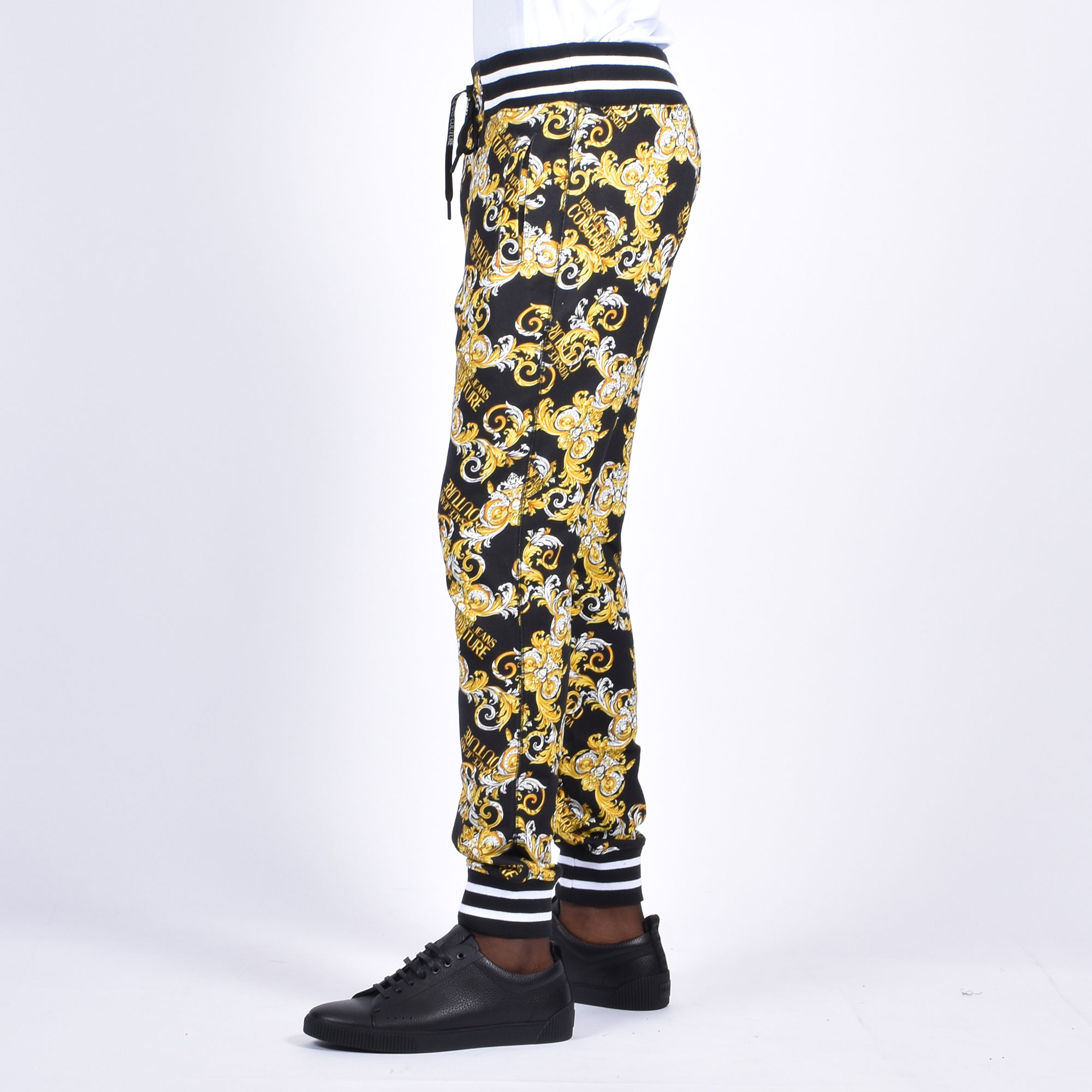 Pantalone felpa stampa baroque - Nero