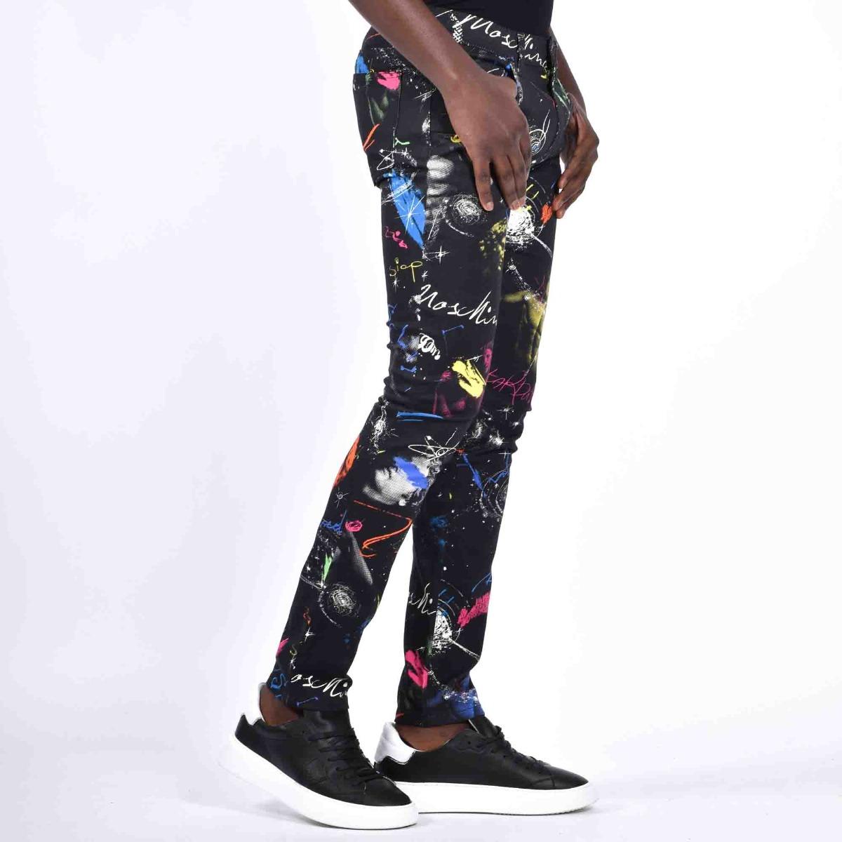 Pantalone stretch galaxy - Nero