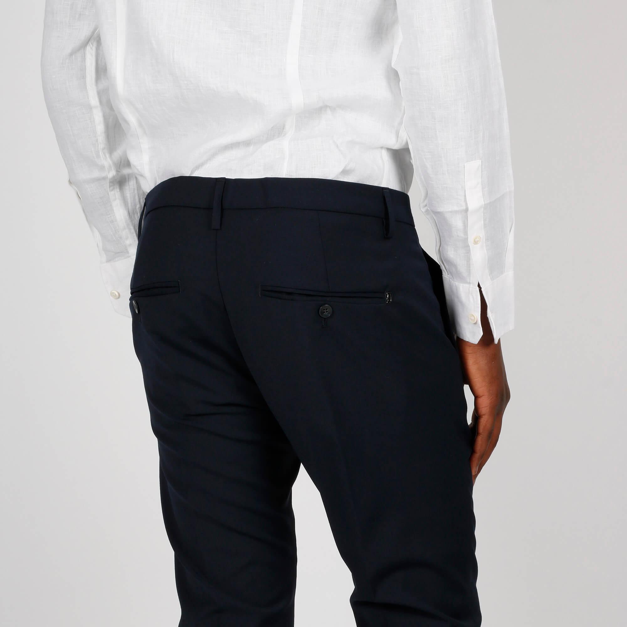 Pantalone gaubert damascato- Blu