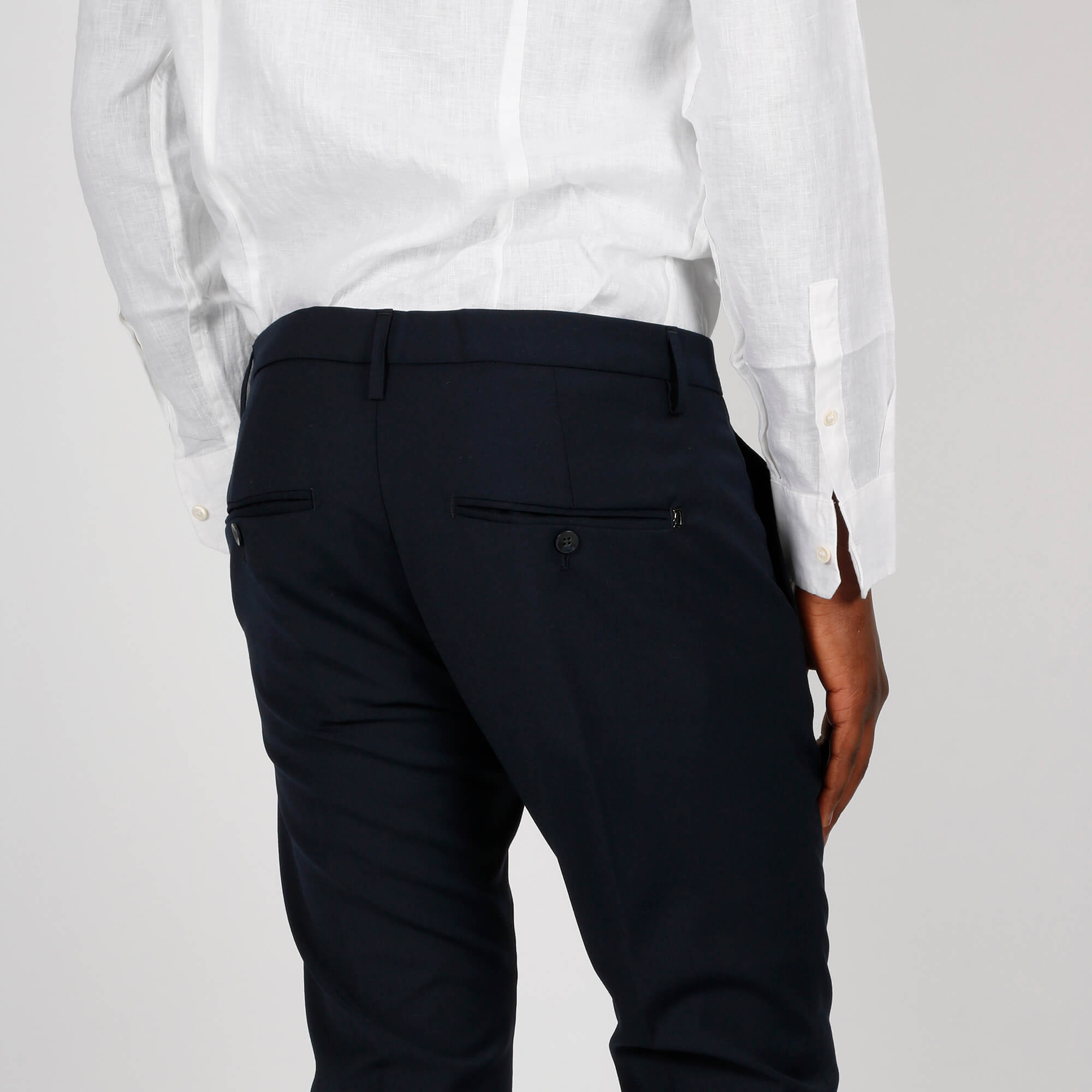Pantalone gaubert fresco lana - Blu