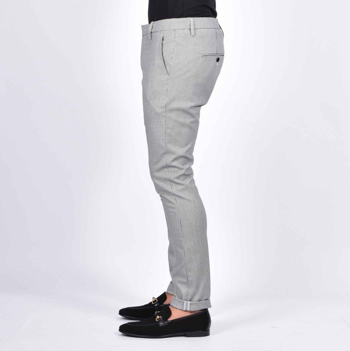 Pantalone gaubert micro pied de poul - Bianco/nero