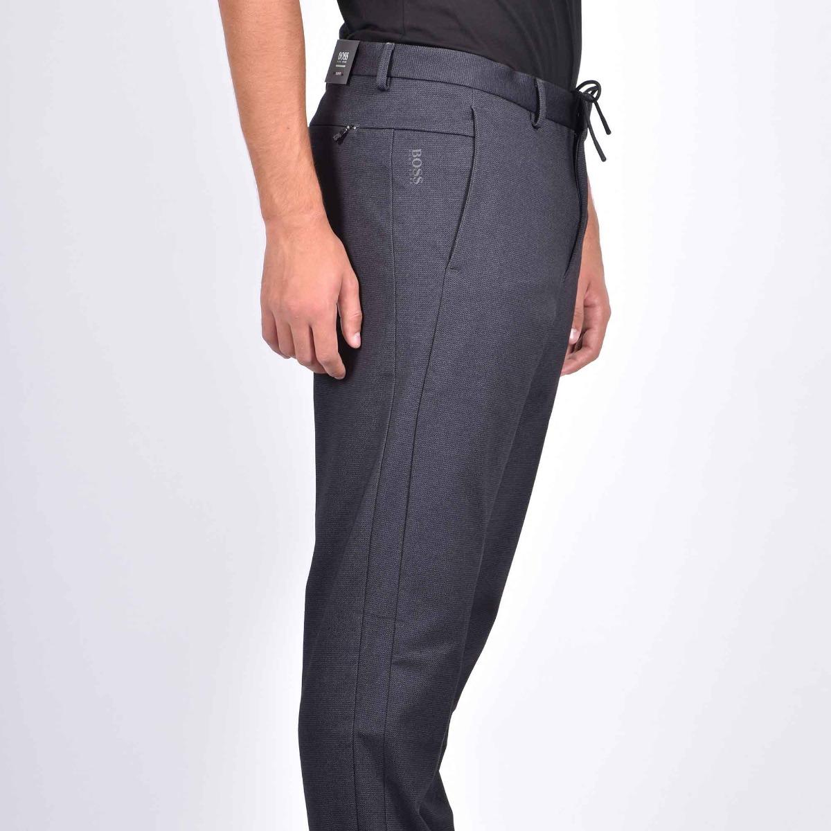 Pantalone jersey bi elasticizzato  - Nero