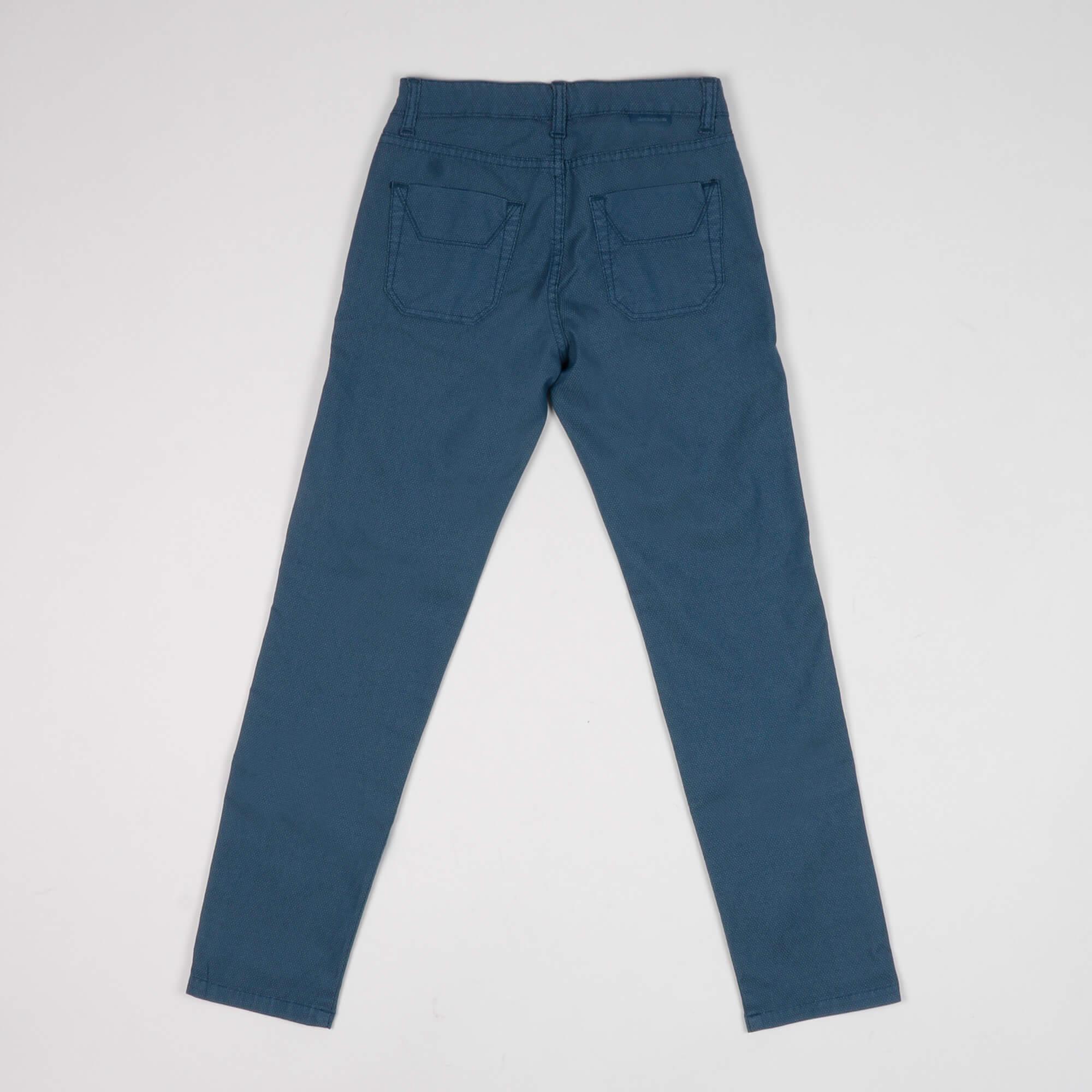 Pantalone junior microfantasia - Blu Royal