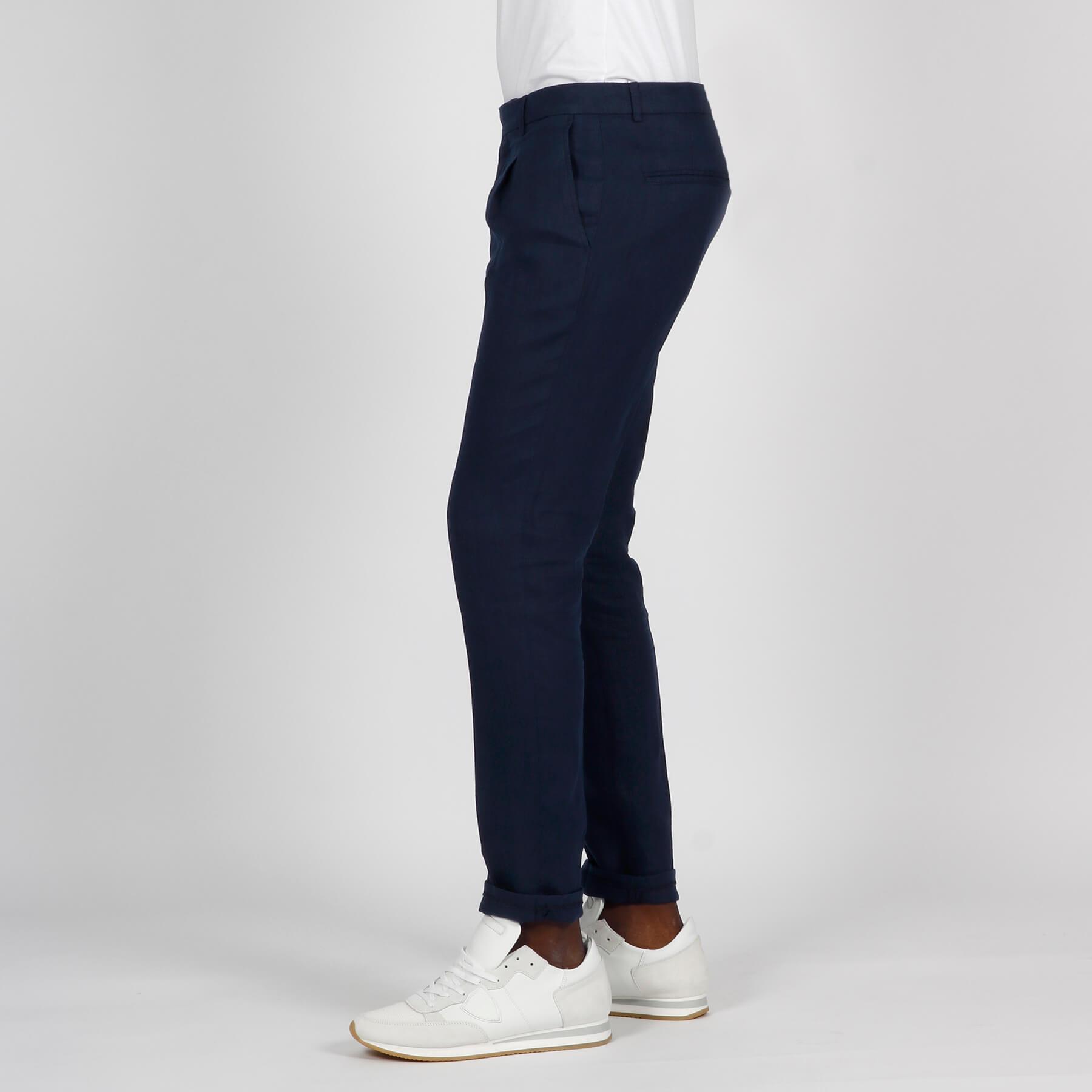 Pantalone lino - Blu