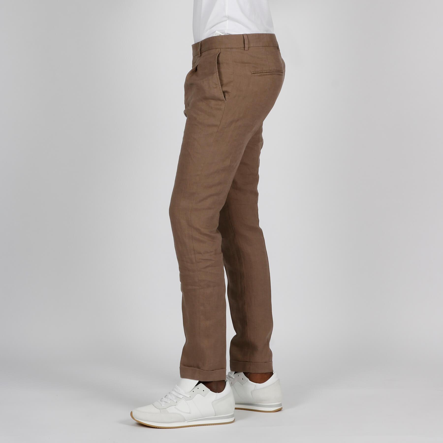 Pantalone lino - Nocciola