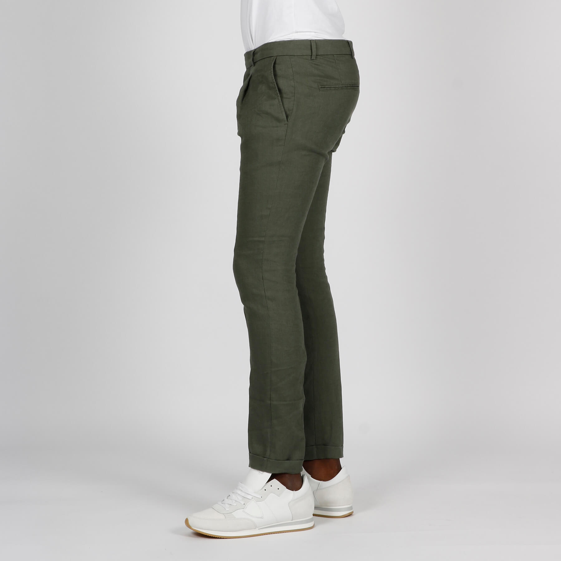 Pantalone lino - Verde
