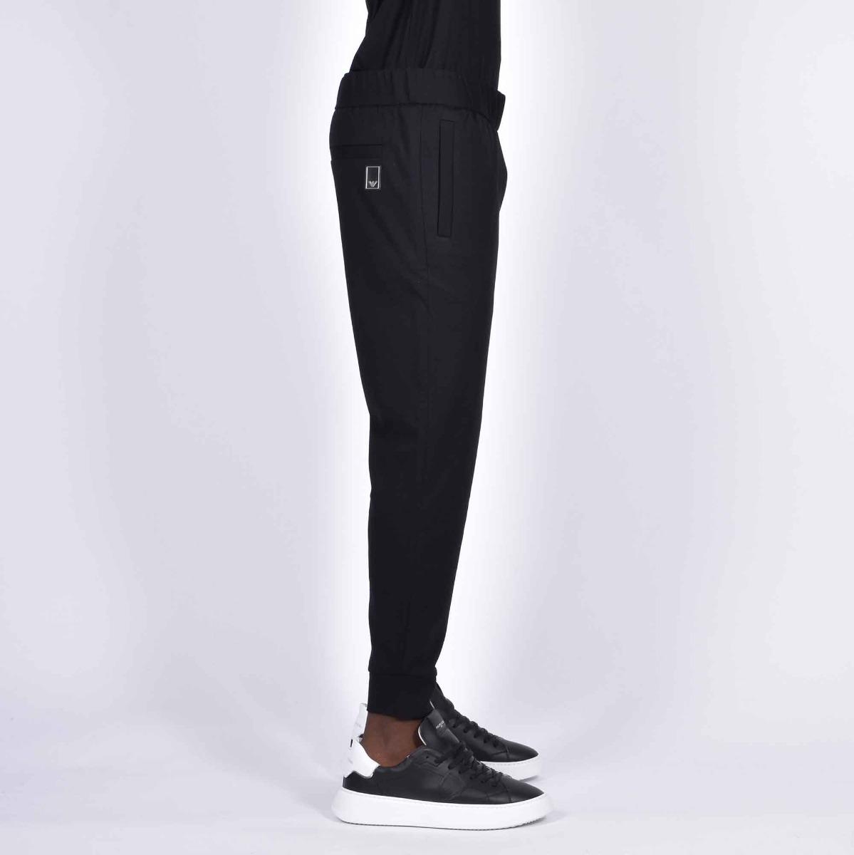 Pantalone jogger placca post - Nero