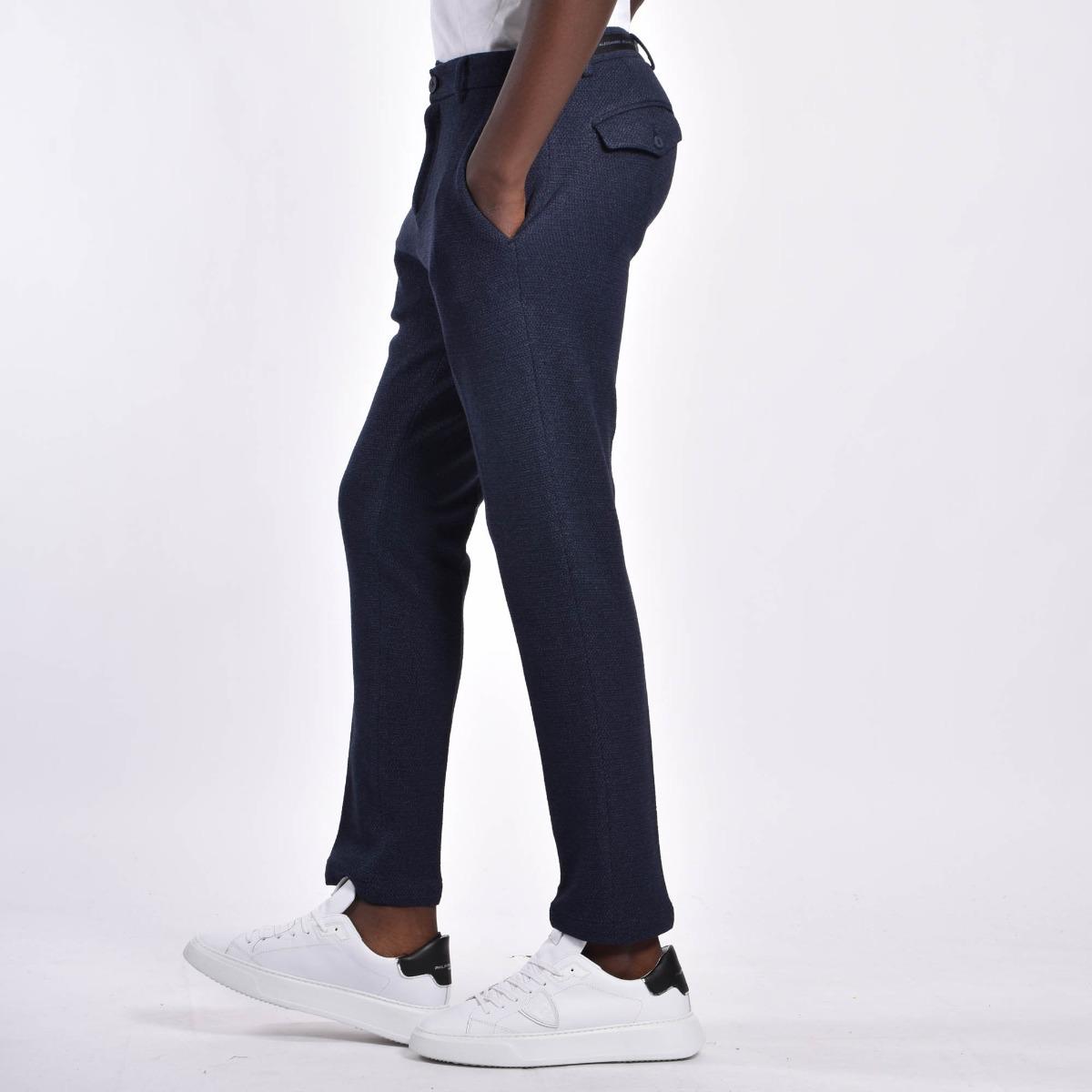 Pantaloni micro fantasia - Blu