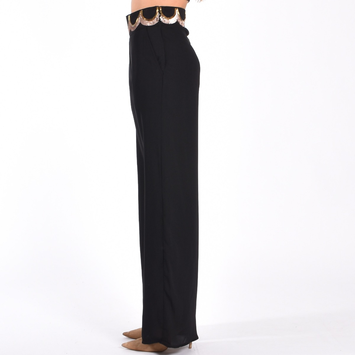Pantalone morbido - Nero
