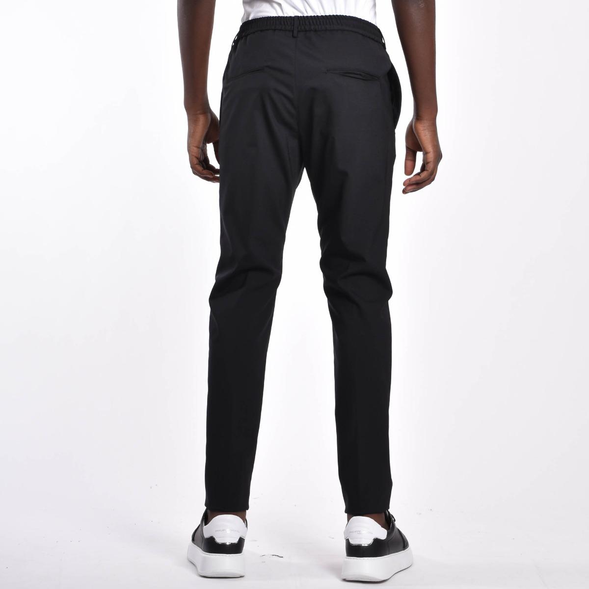 Pantalone con coulisse- Nero