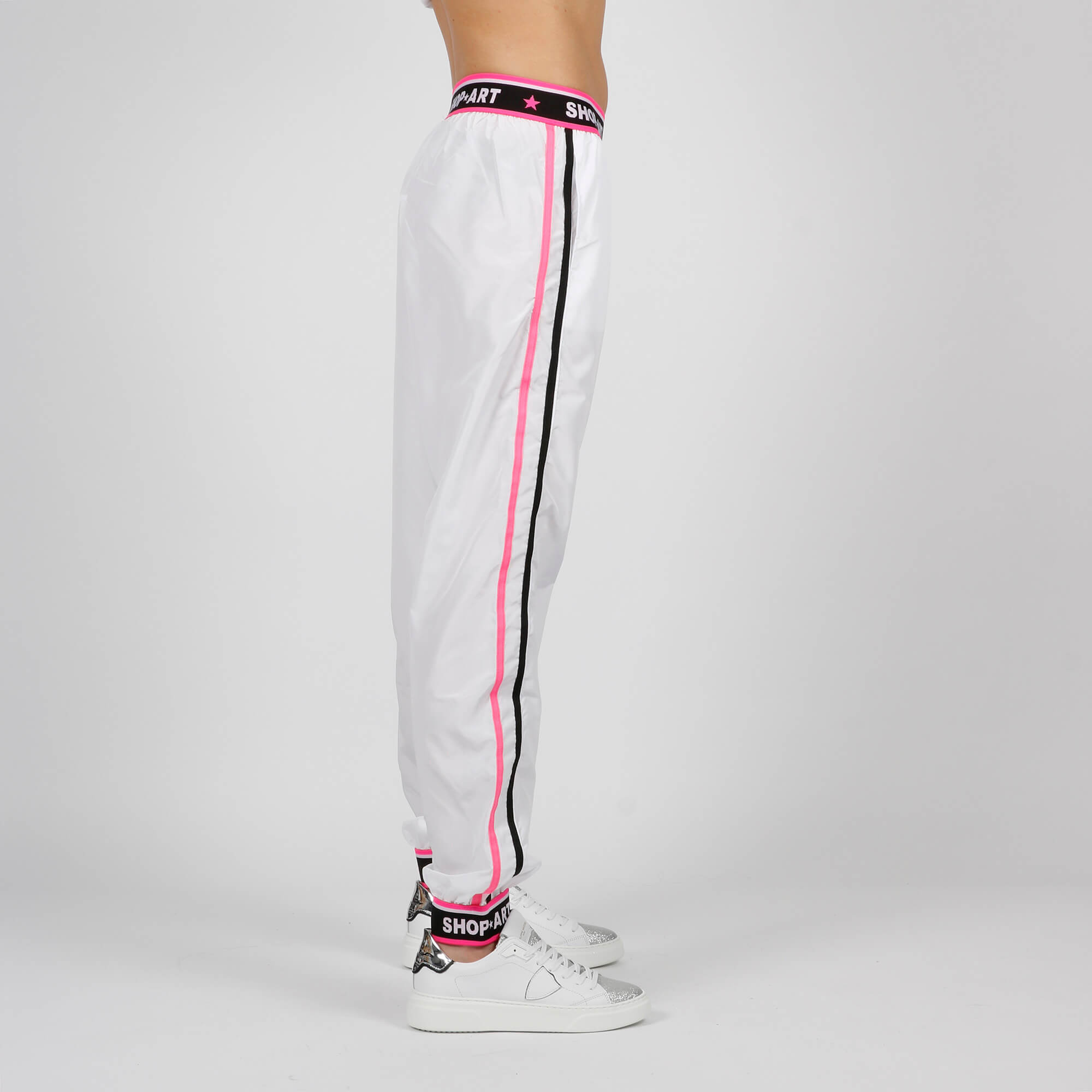 Pantalone elastico logato - Bianco