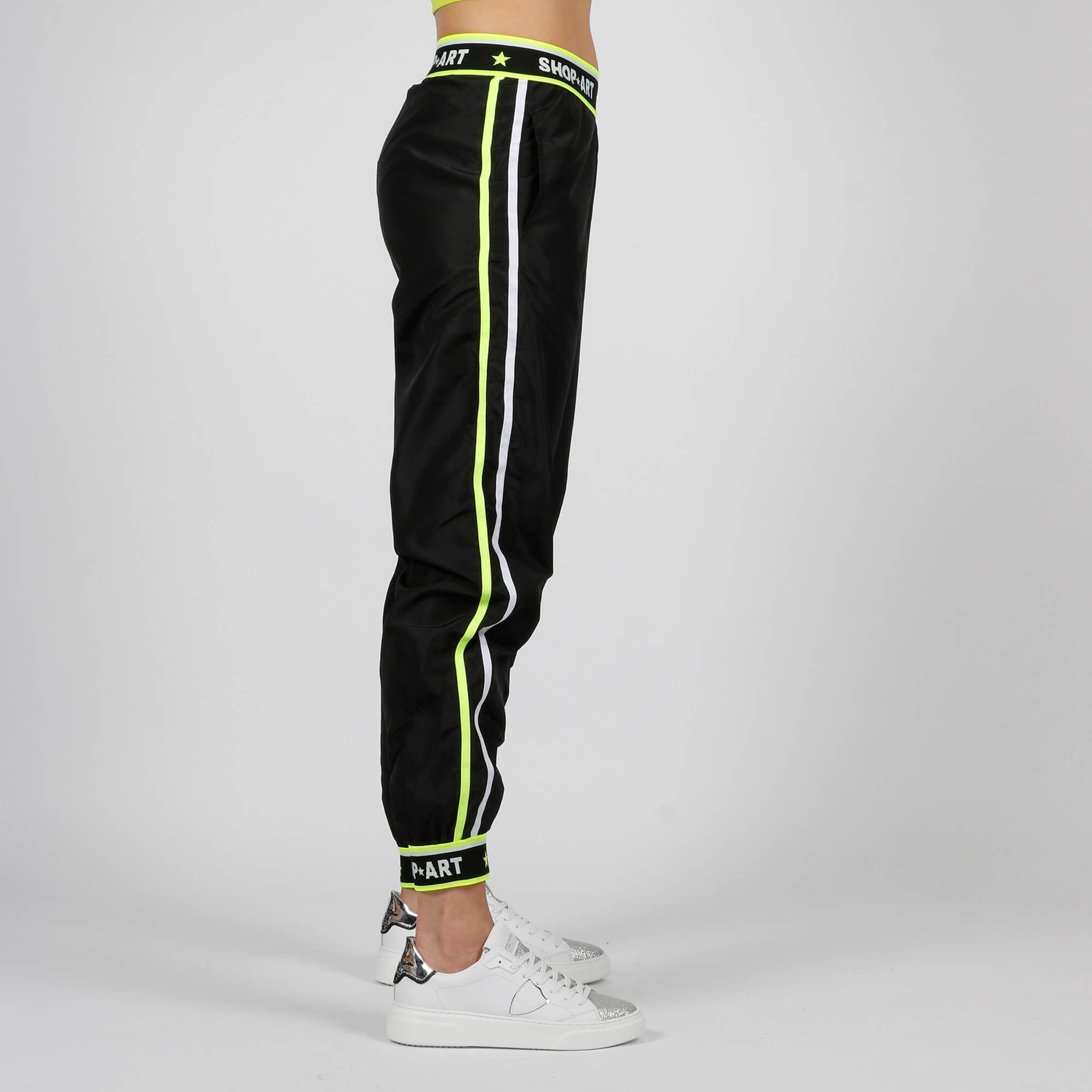 Pantalone elastico logato - Nero