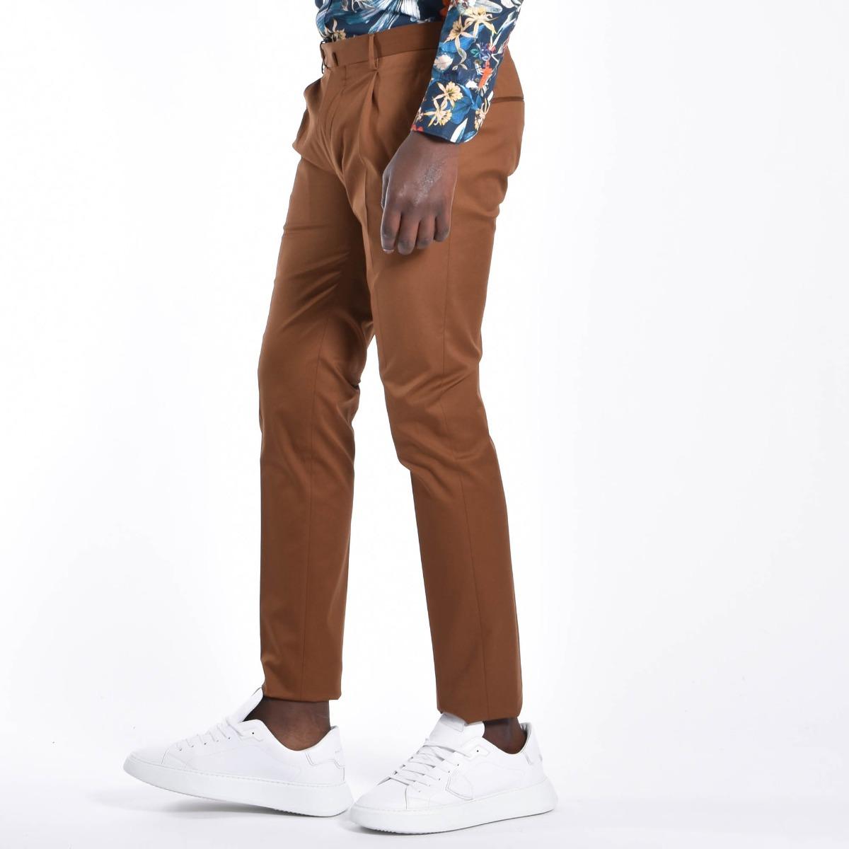 Pantalone pattina e pences - Tabacco