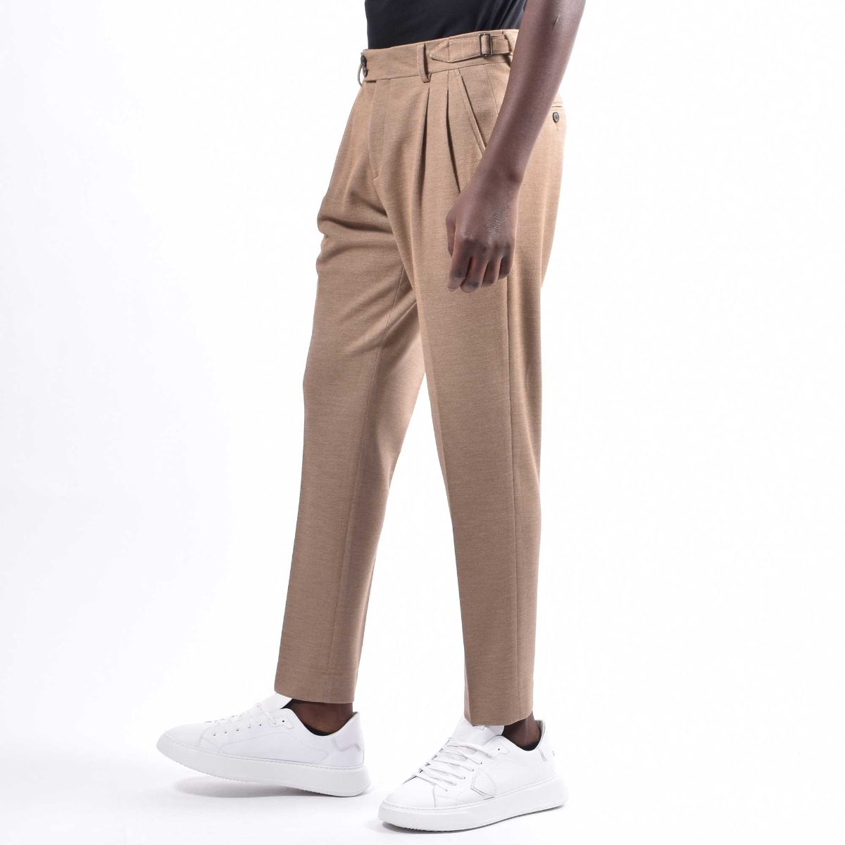 Pantalone pences fibbie - Cammello