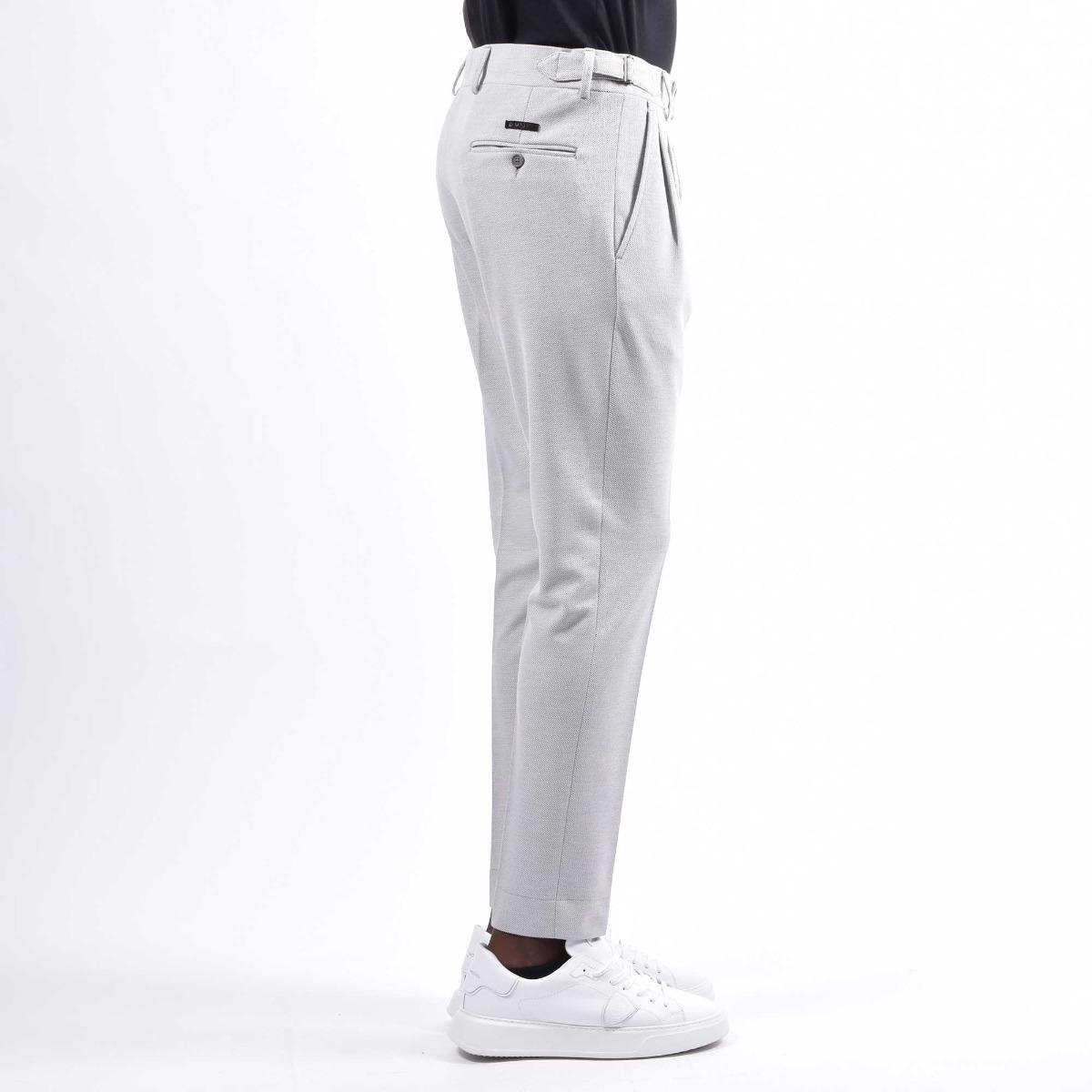 Pantalone pences fibbie - Grigio
