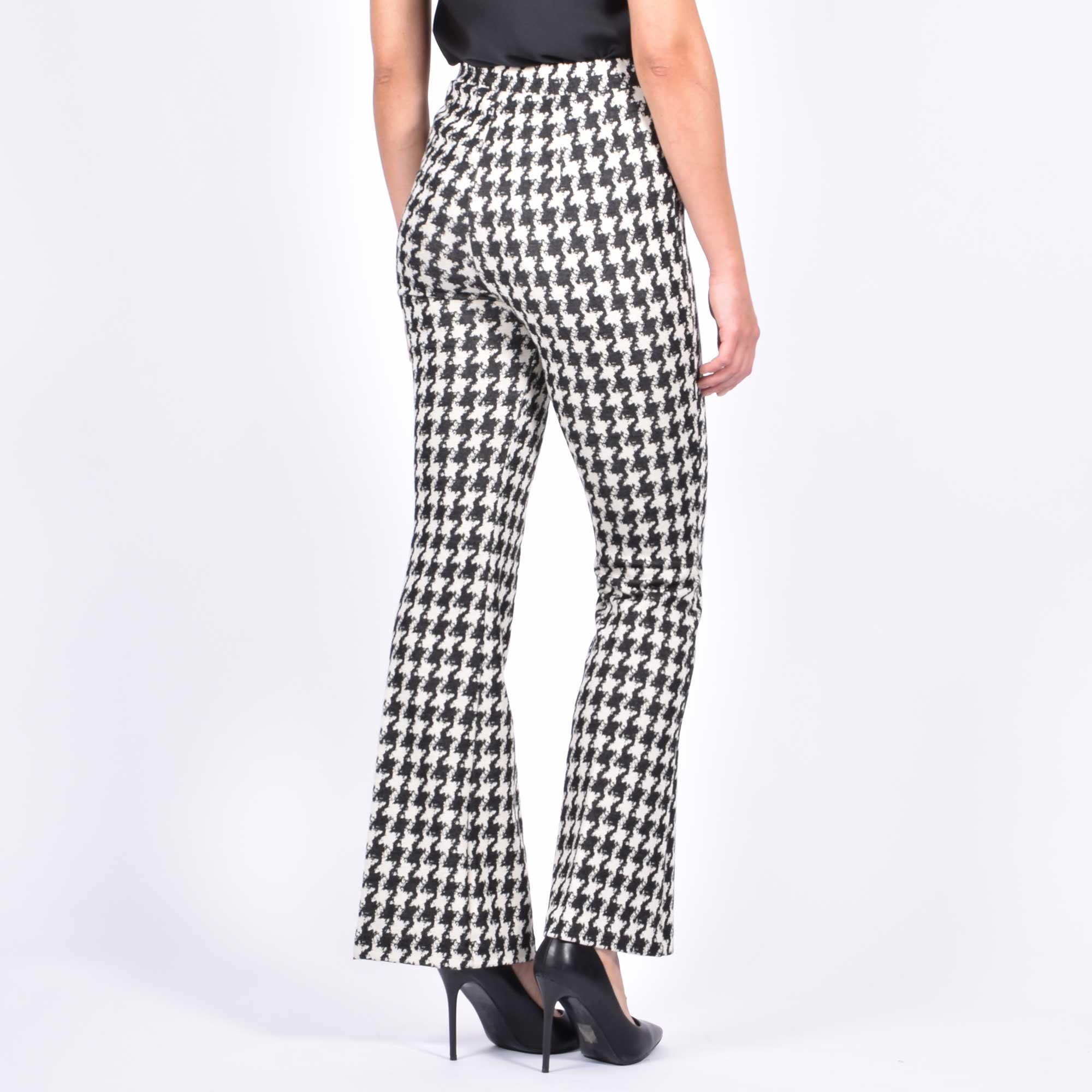 Pantalone pied de poule - Bianco/nero