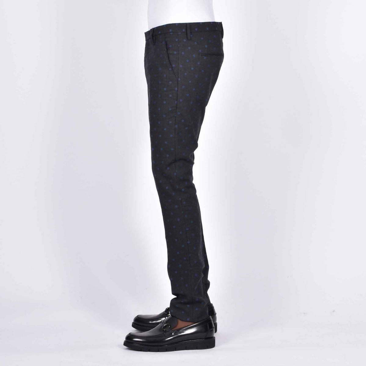 Pantalone fantasia pois- Grigio