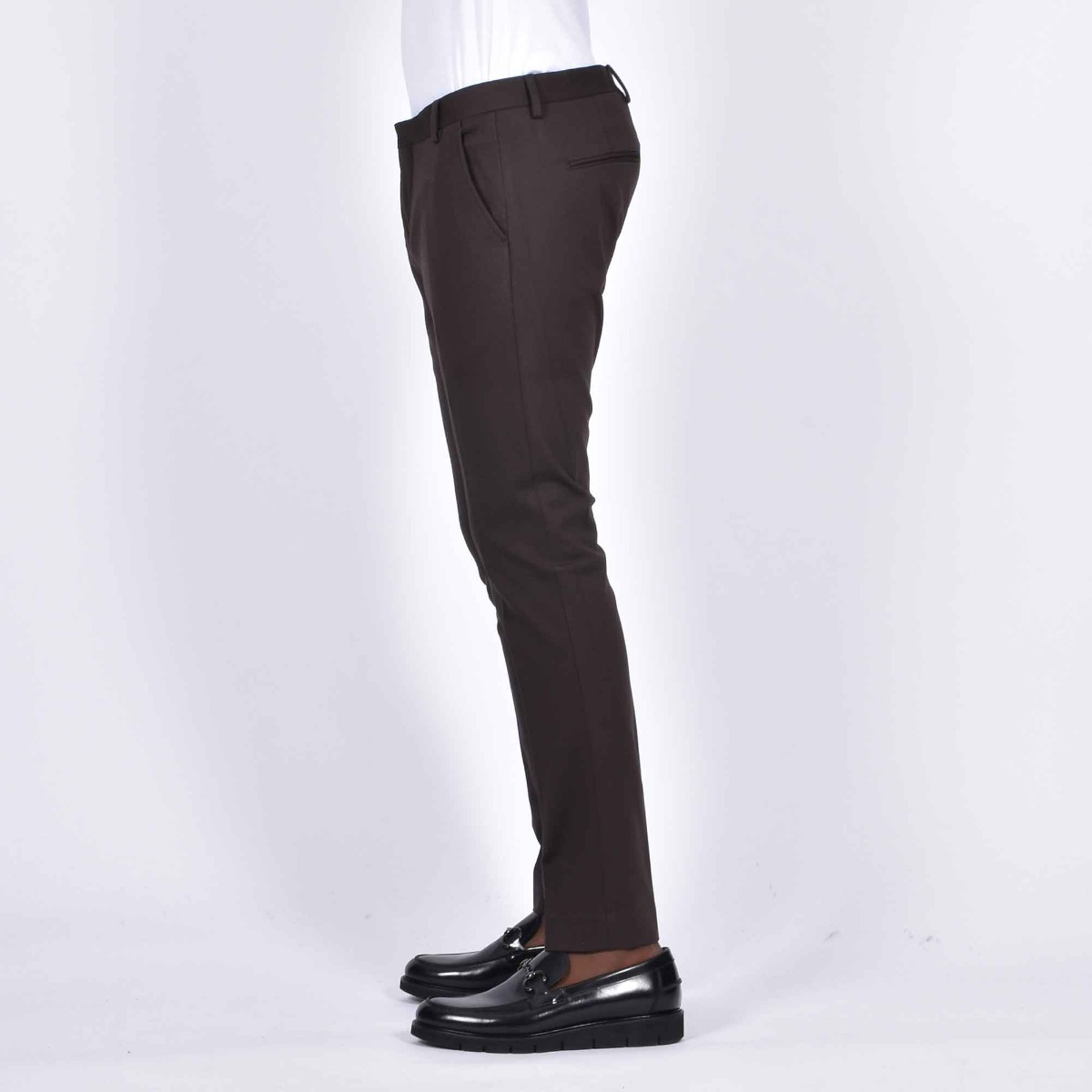 Pantalone tasca america milano- Moro