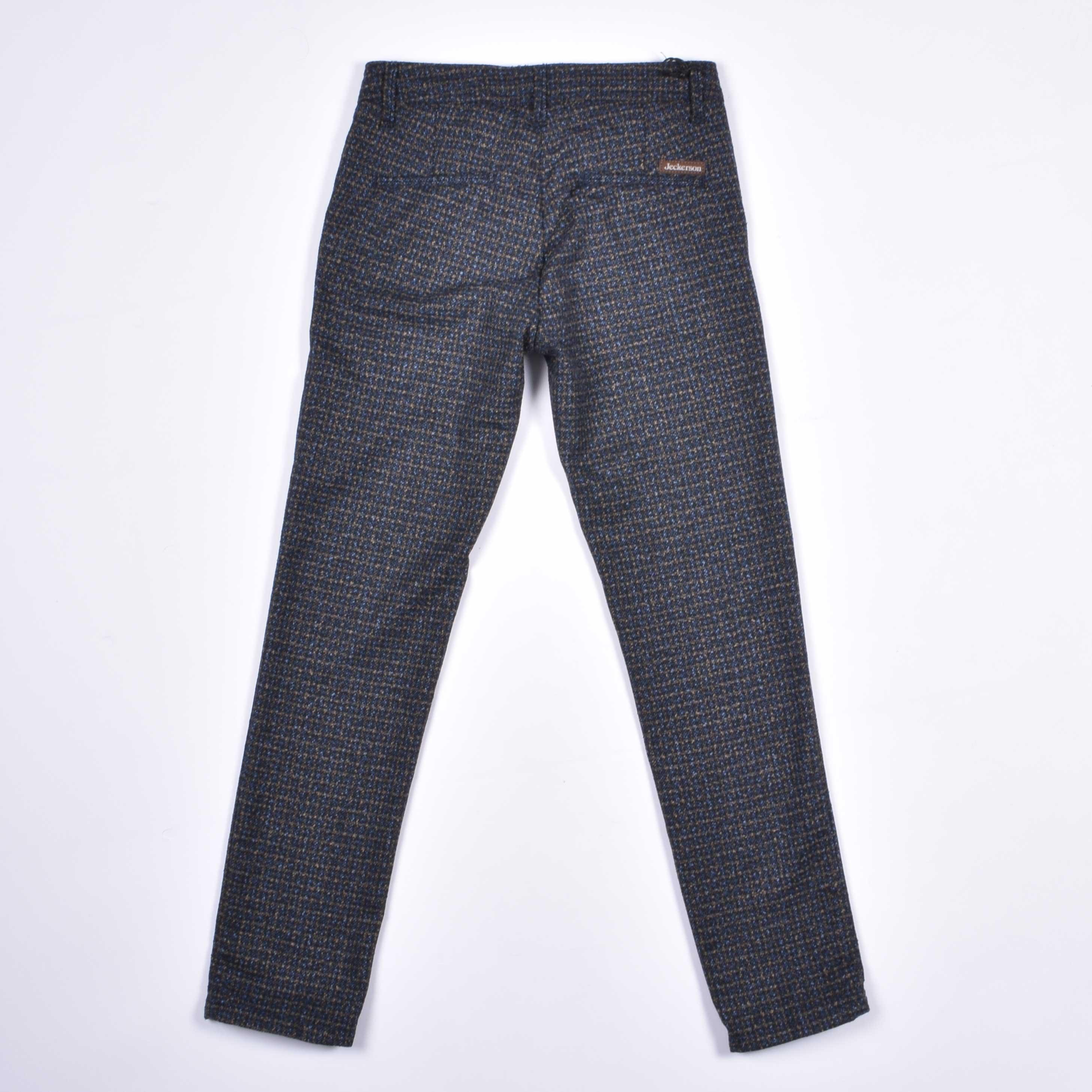 Pantalone junior quadretti - Giallo/blu/nero