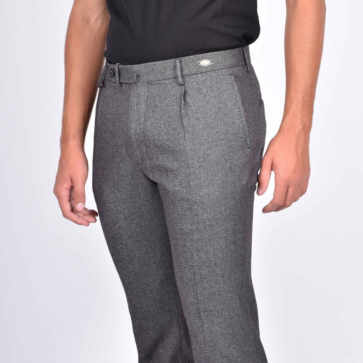 Pantalone tasca america- Grigio chiaro