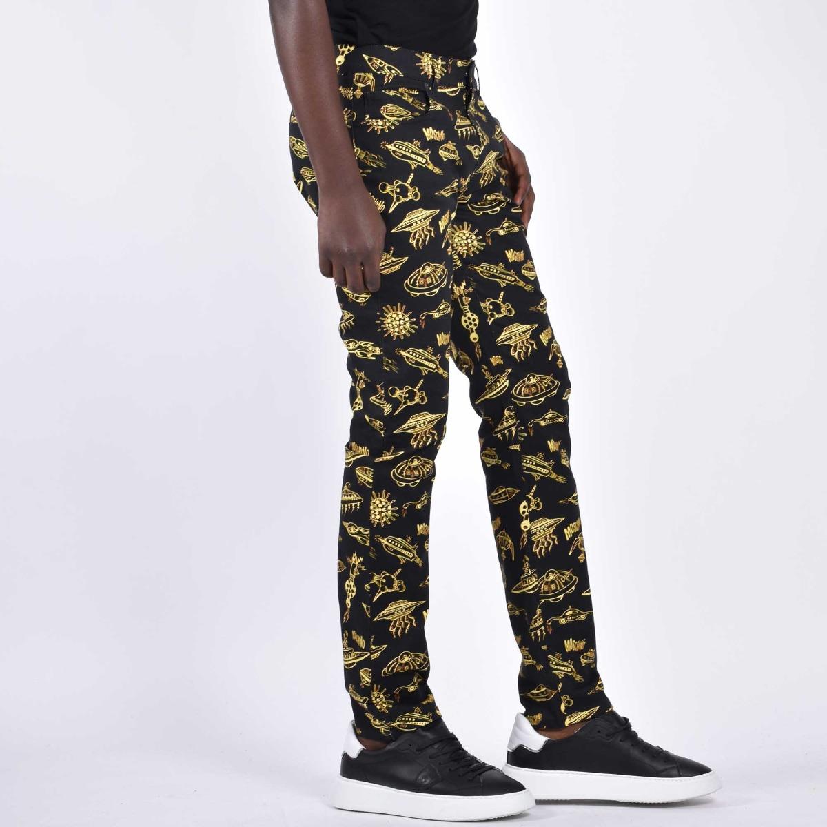 Pantalone stampa space - Nero