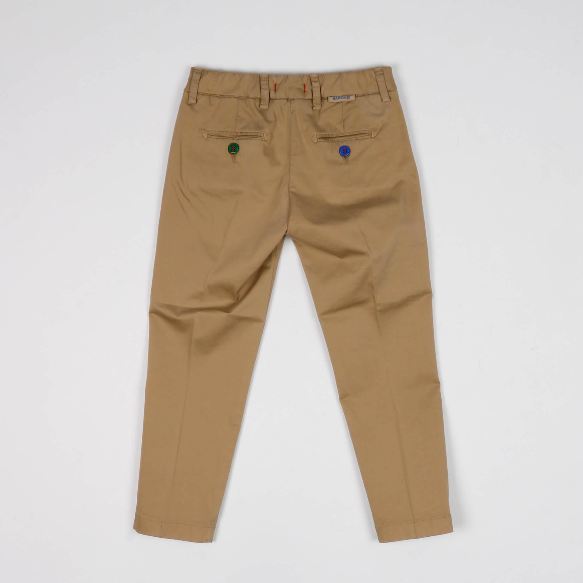 Pantalone tasca america - Tortora
