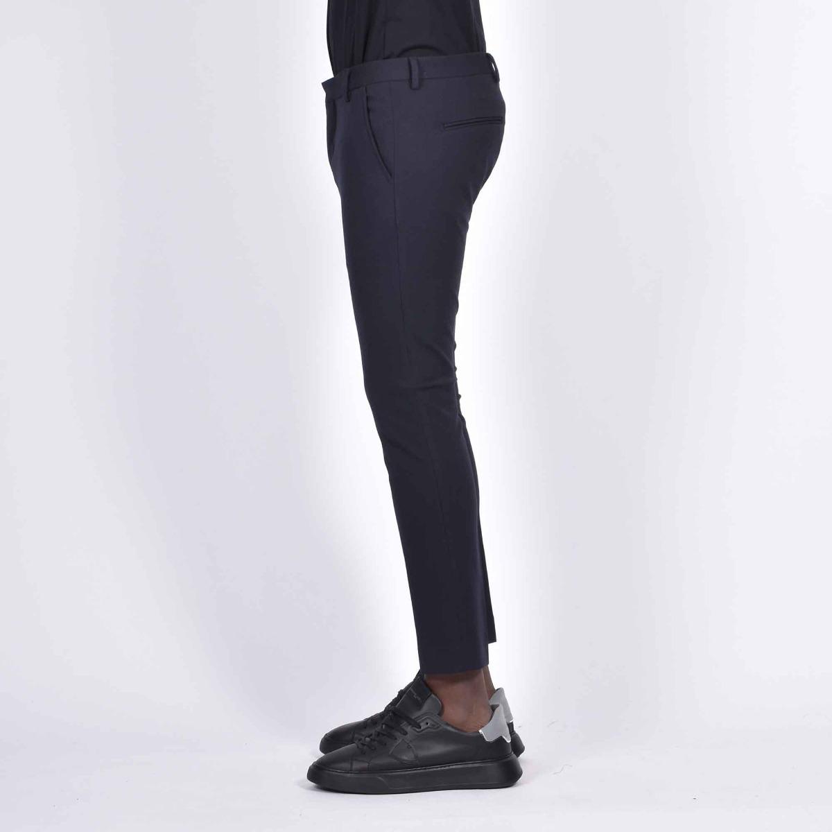 Pantalone tasca america corto- Blu