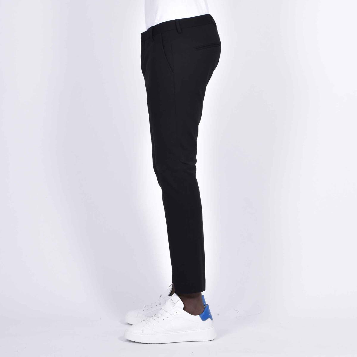 Pantalone tasca america corto- Nero