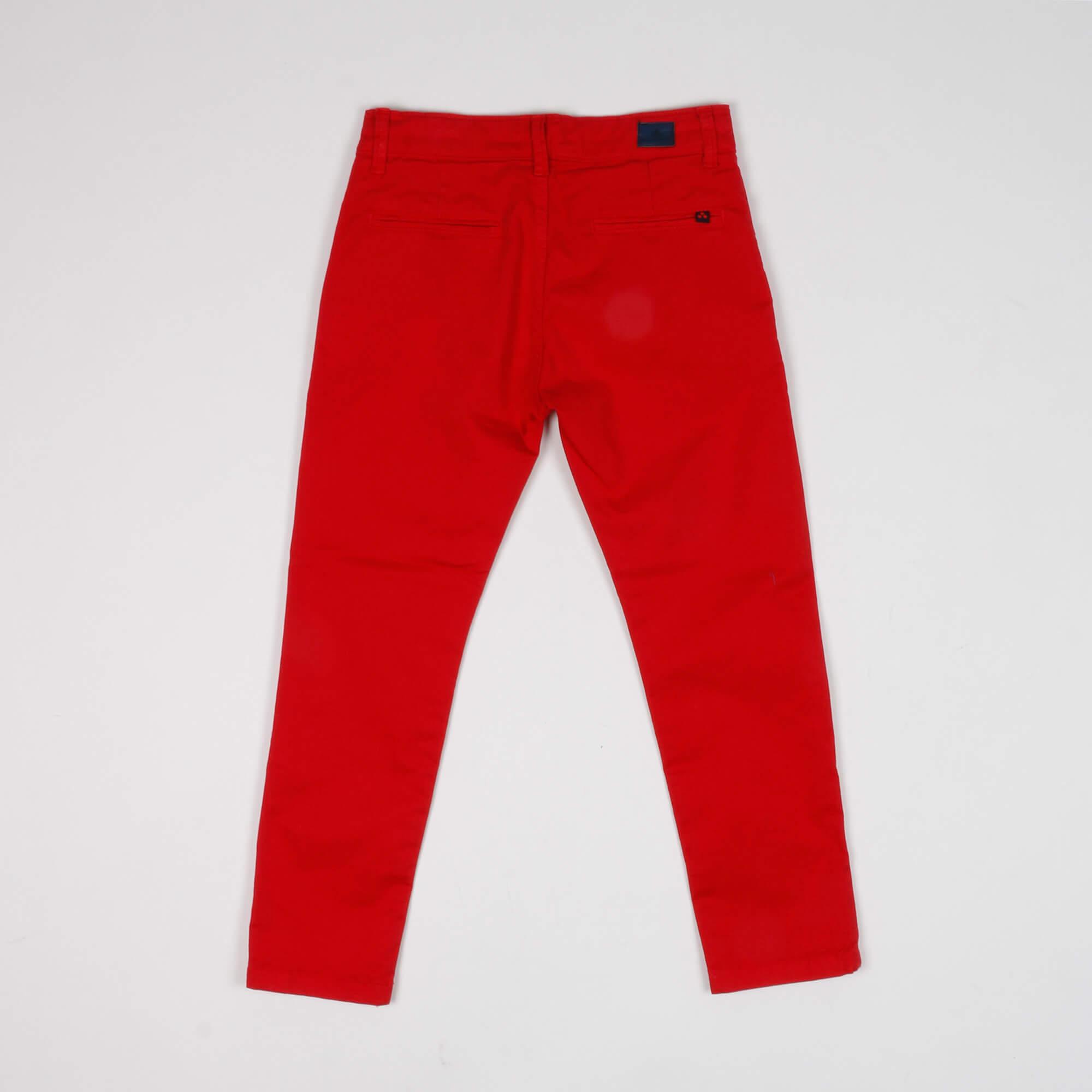 Pantalone tasca america- Rosso