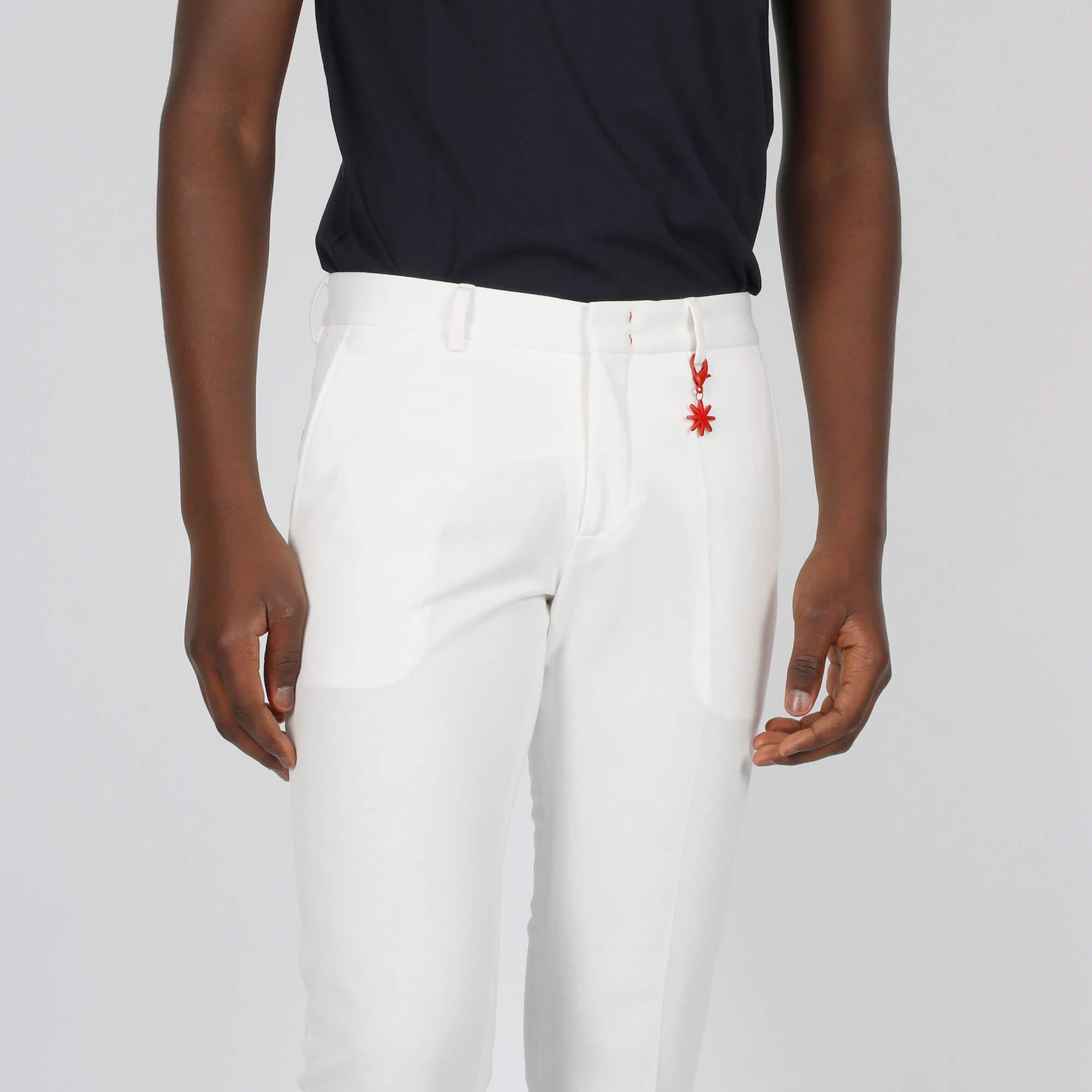 Pantalone tasca america - Bianco