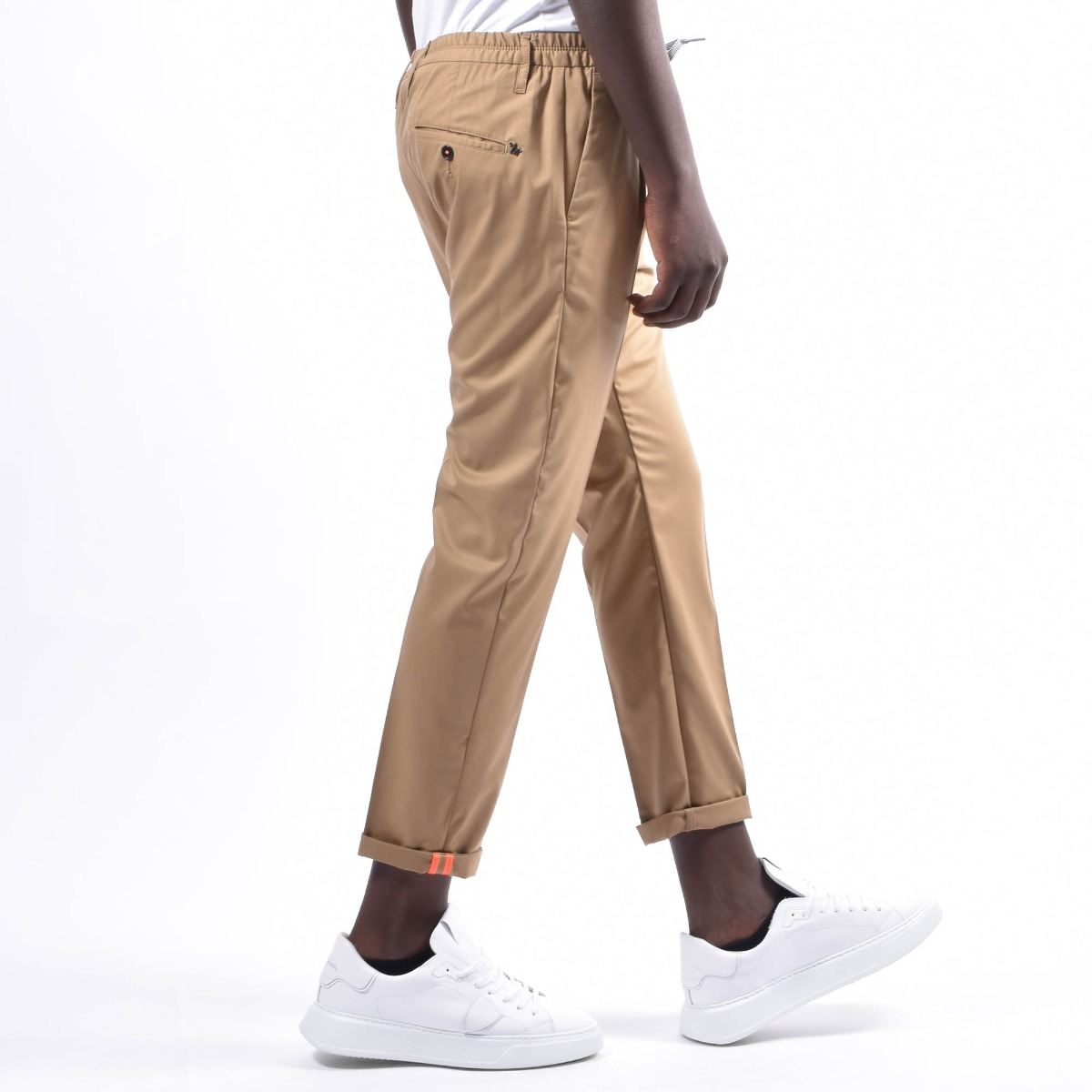 Pantalone con coulisse - Cammello