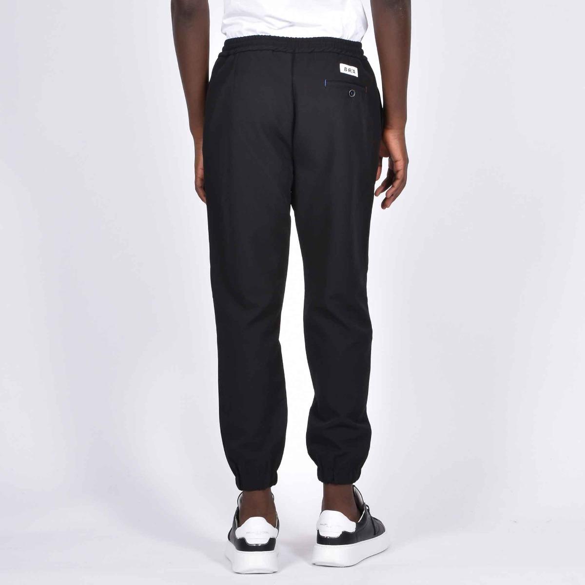 Pantalone tasca america e coulisse - Nero
