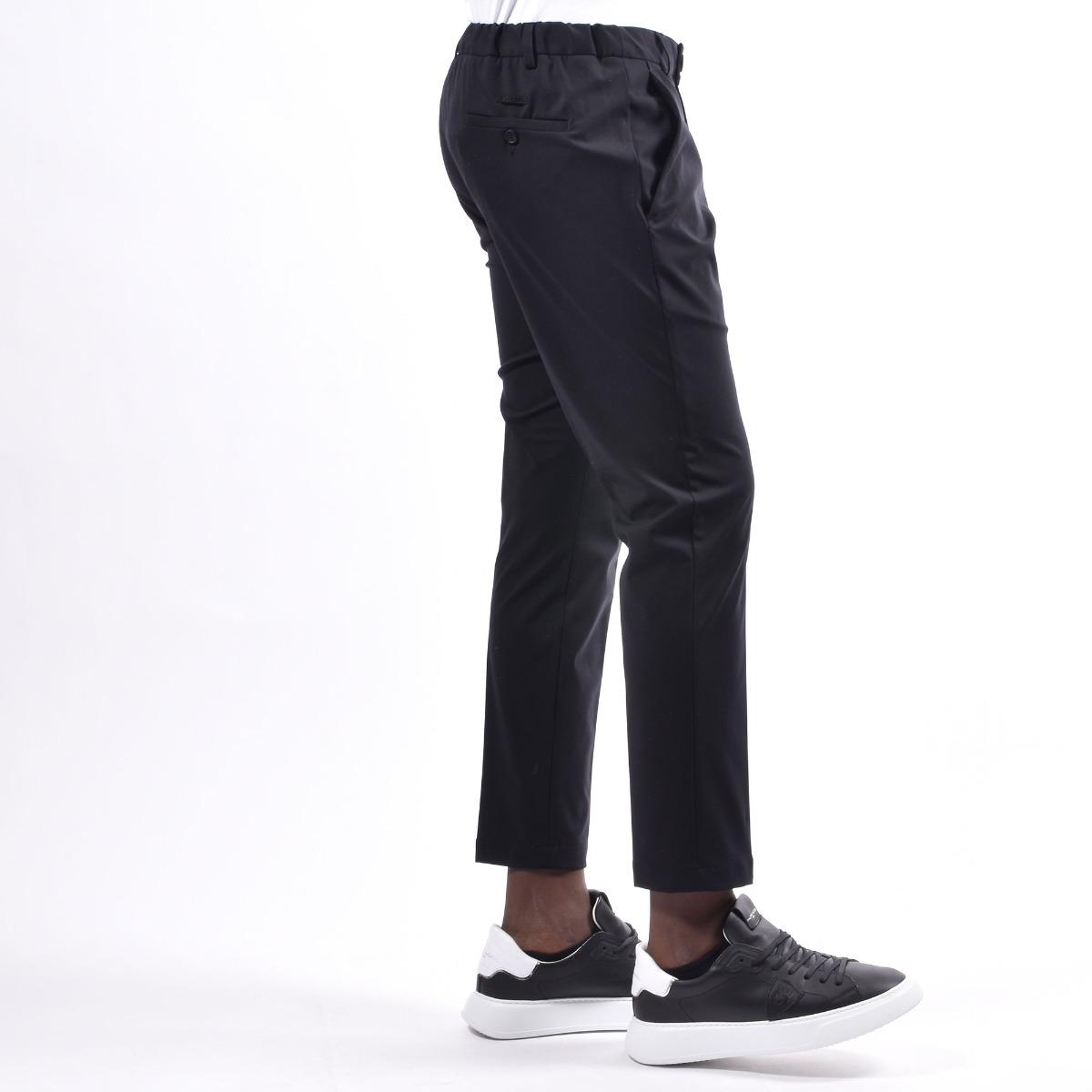 Pantalone tasca america elasticizzato - Nero