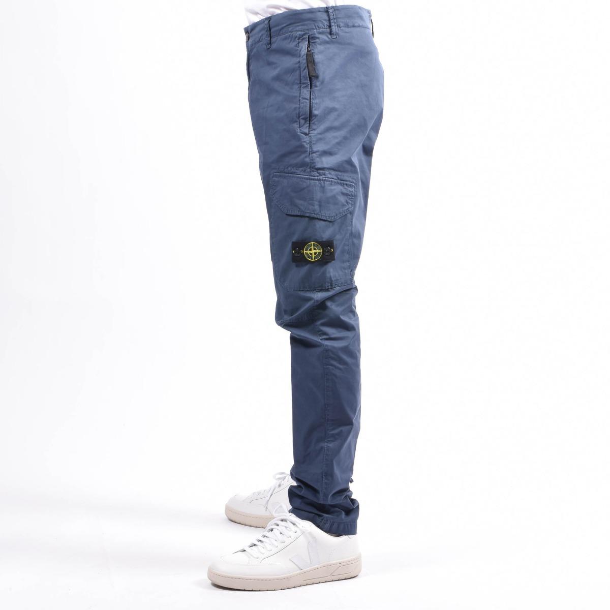 Pantaloni tasconato - Bluette