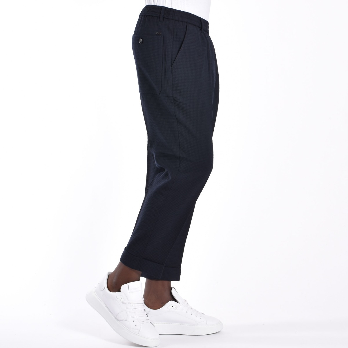 Pantalone tessuto 3d - Blu navy