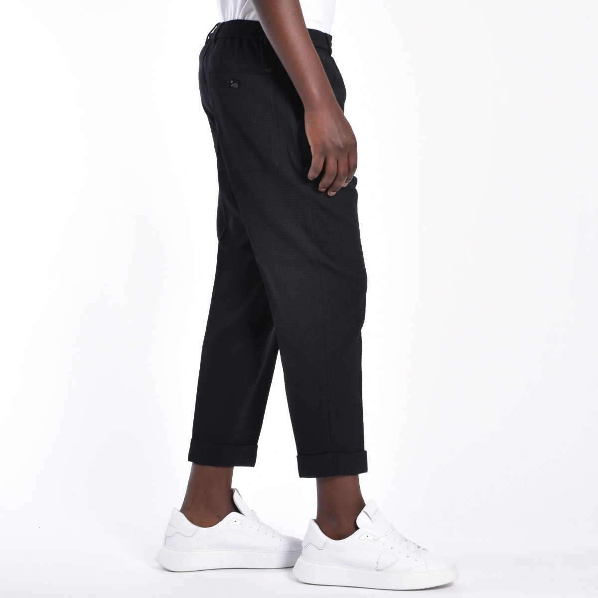 Pantalone tessuto 3d - Nero