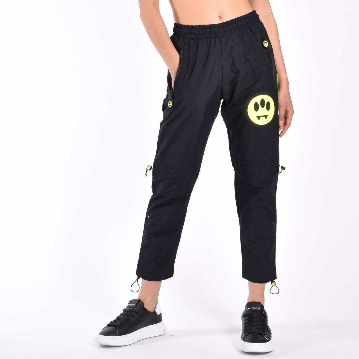 Pantalone inserti fluo- Nero