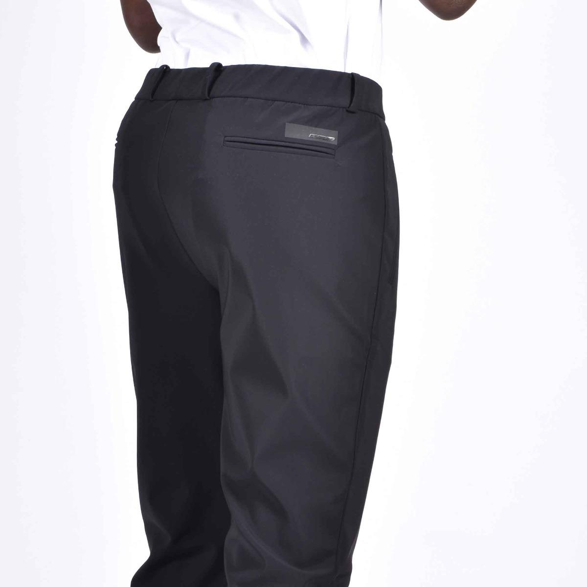 Pantalone in tessuto tecnico- Nero