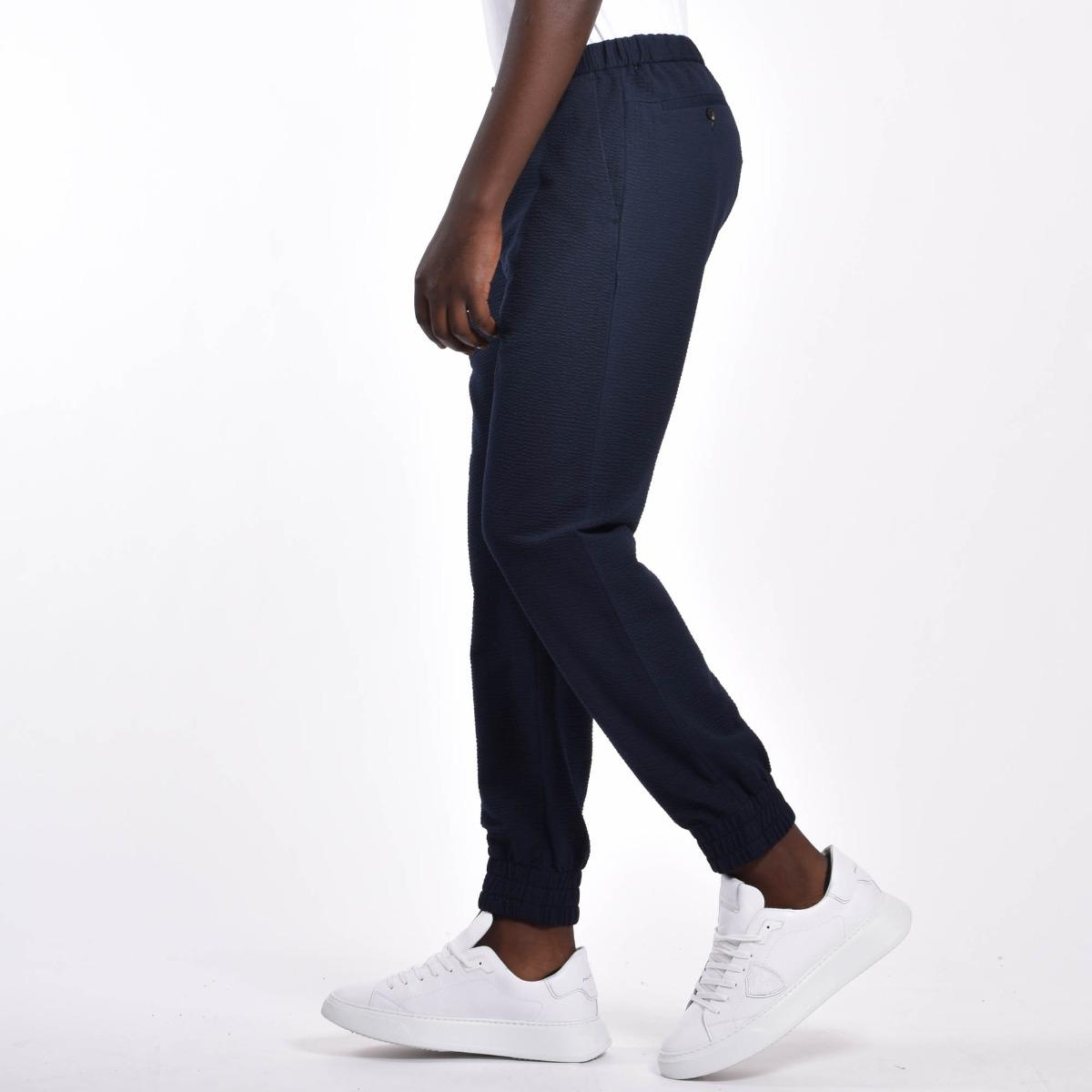 Pantalone jersey con polsino - Blu
