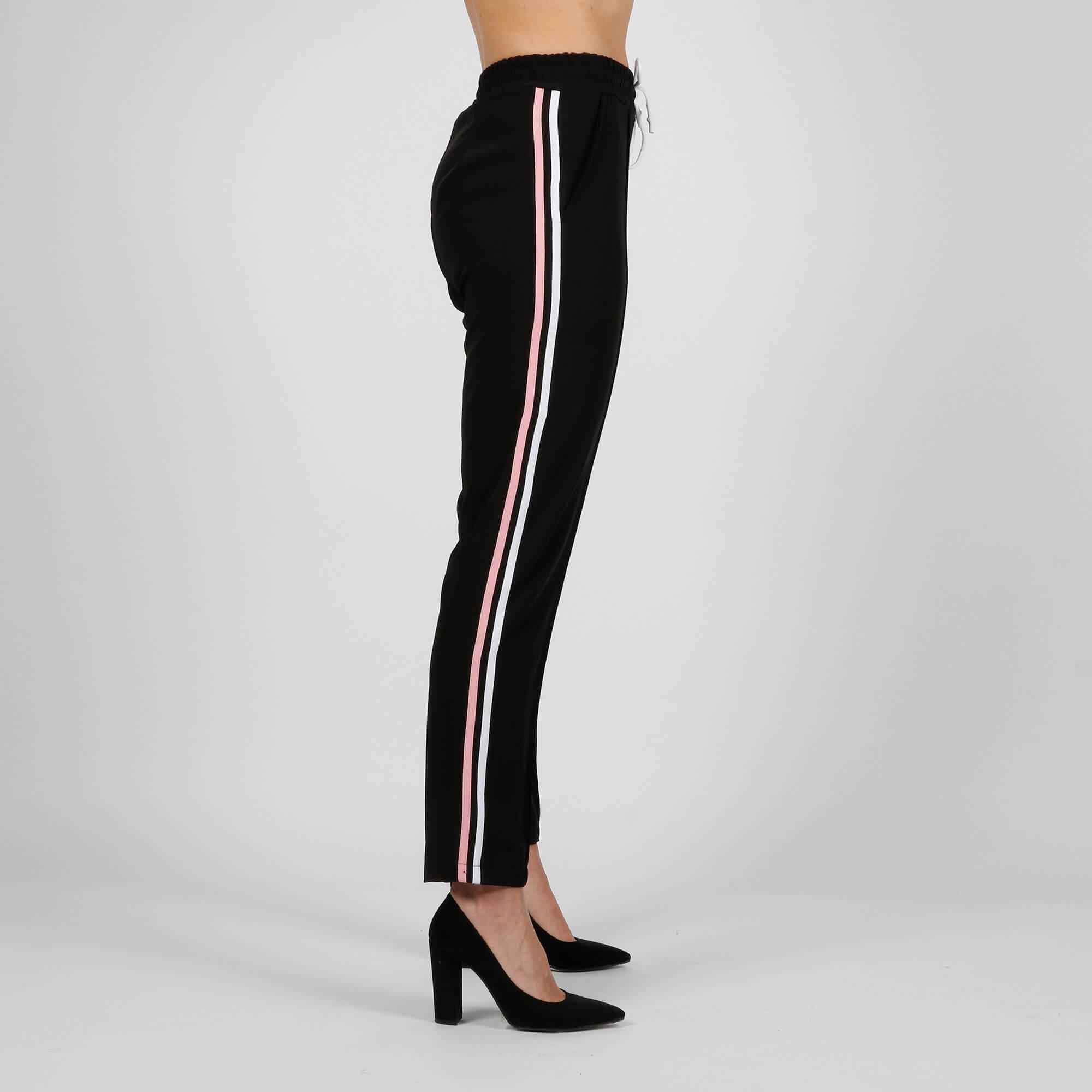 Pantalone tuta banda laterale - Nero