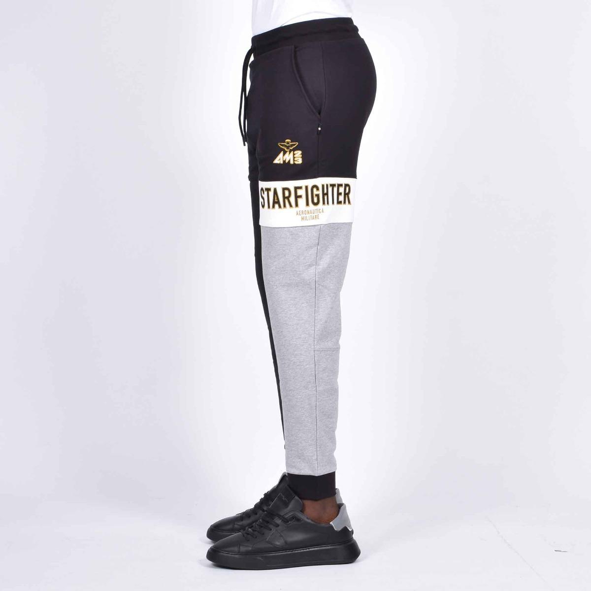 Pantalone felpa starfighter - Nero/grigio