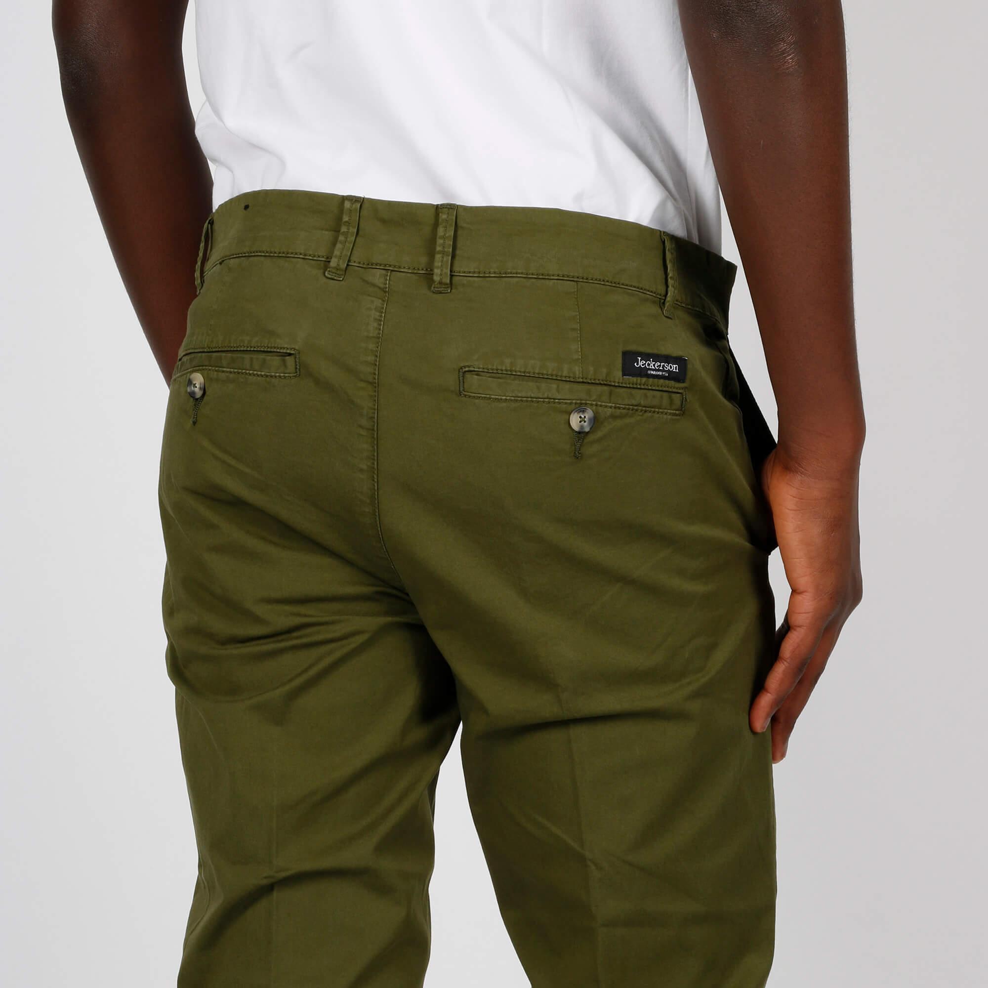 Pantalone ankle chino slim - Verde